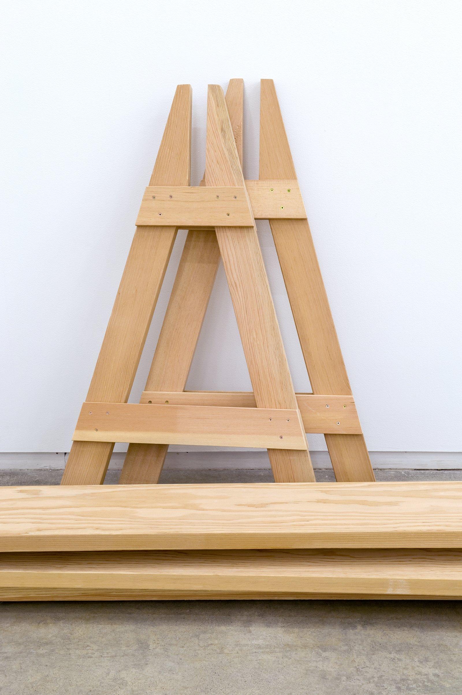 Brian Jungen, Barricades (detail), 2010, fir, 5 parts, each: 41 x 26 x 144 in. (104 x 66 x 366 cm) by Brian Jungen