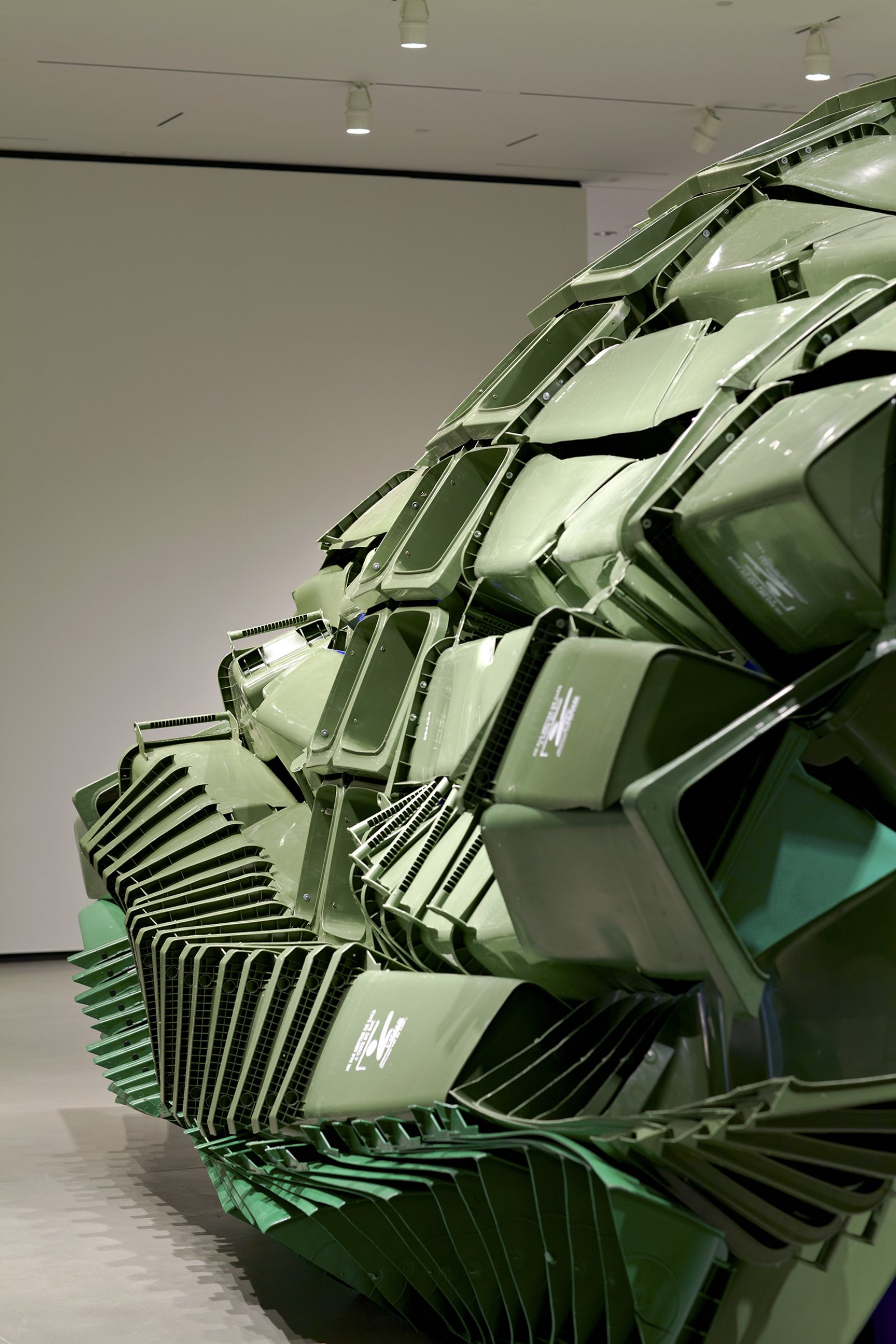 Brian Jungen,Carapace(detail), 2009–2011, plastic recycling containers, 144 x 264 x 252 in. (370 x 670 x 640 cm)