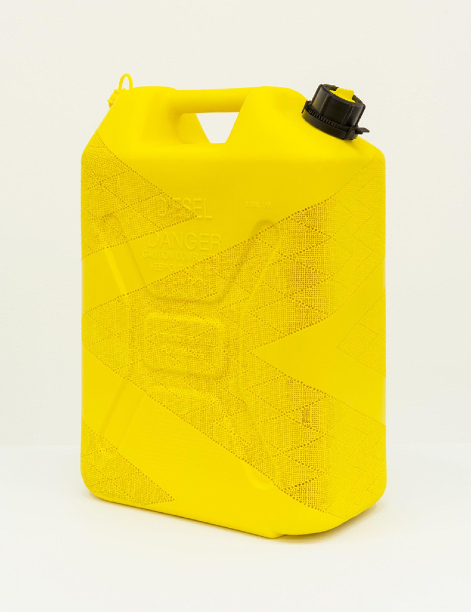 Brian Jungen,Chevron 1, 2012, carved diesel jug, 20 x 13 x 7 in. (50 x 33 x 18 cm)
