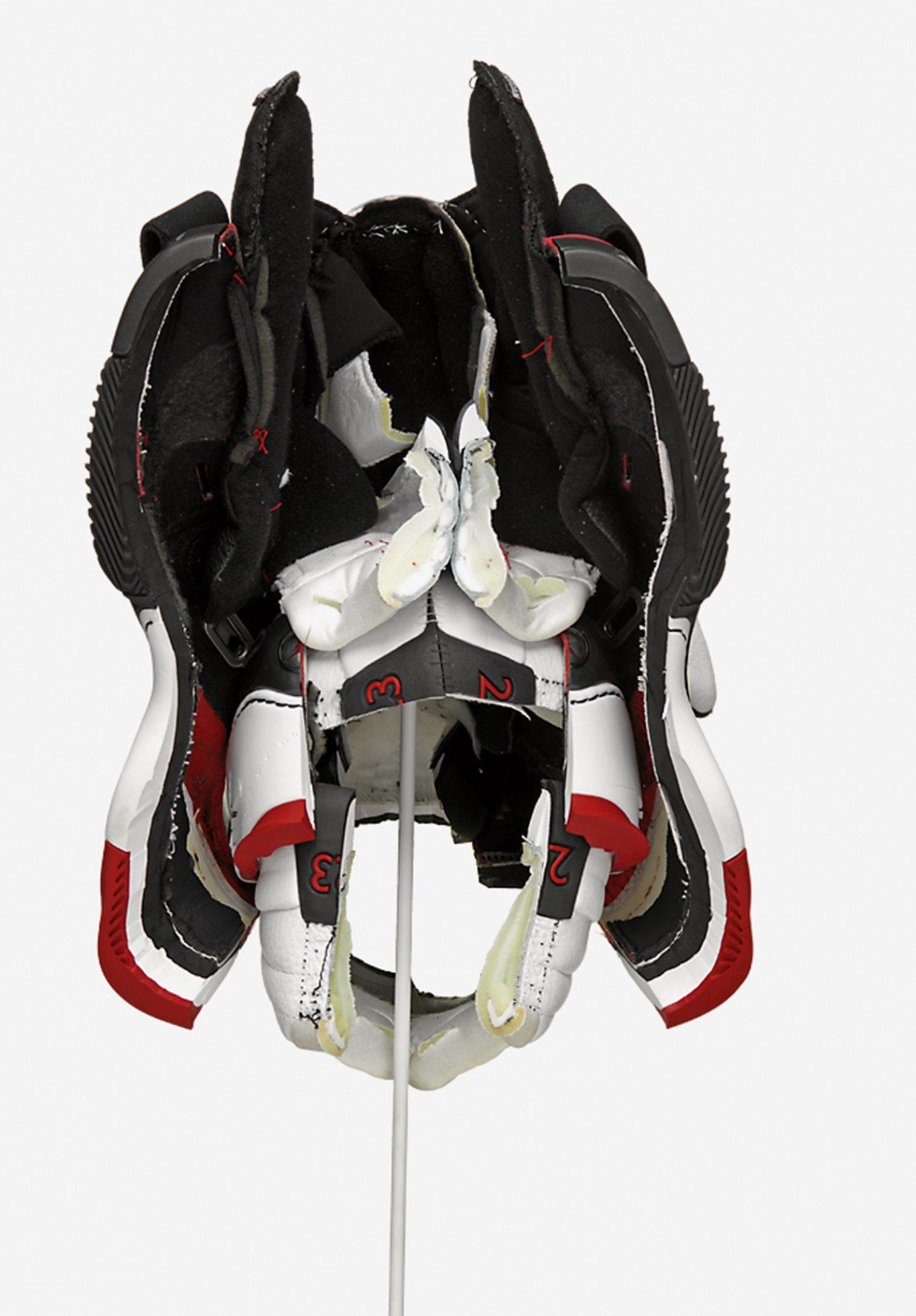 Brian Jungen, Prototype for New Understanding #20, 2004, nike air jordans, 17 x 10 x 20 in. (43 x 25 x 51 cm)