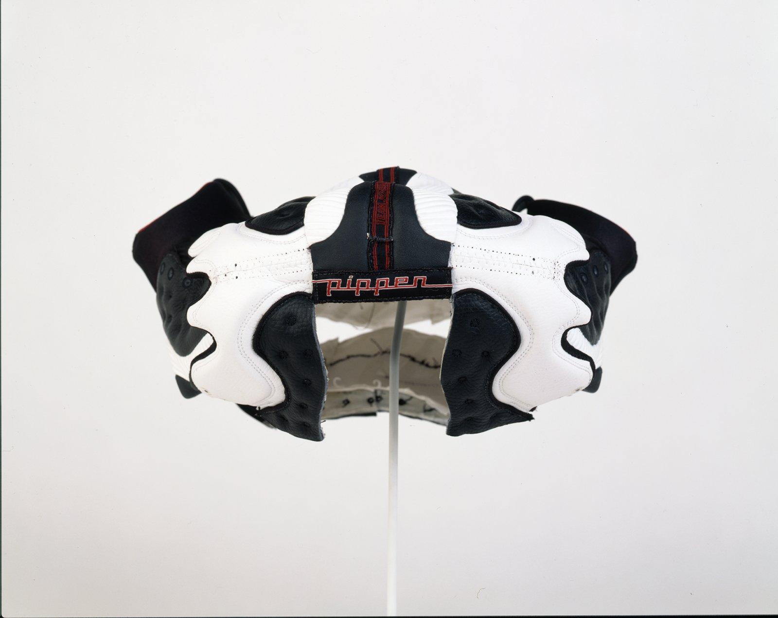 Brian Jungen,Prototype for New Understanding #1, 1998, nike air jordans, 7 x 15 x 14 in. (17 x 37 x 35cm)