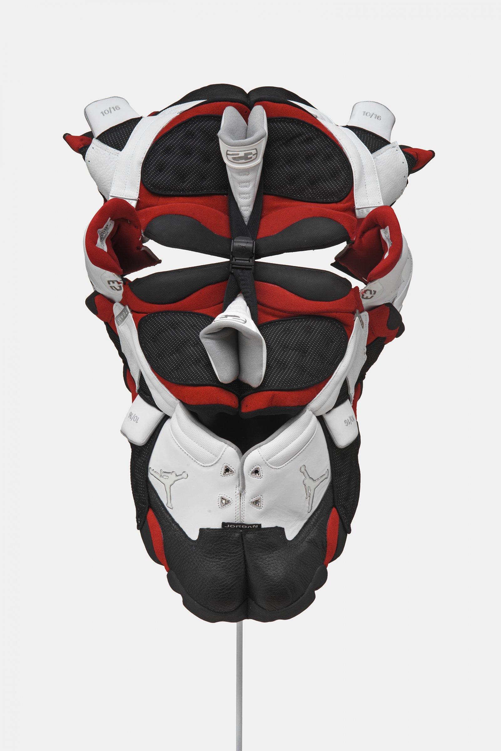 BrianJungen,Prototype for New Understanding #21, 2005, nike air jordans, 20 x 14 x 13 in. (50 x 36 x 33 cm)