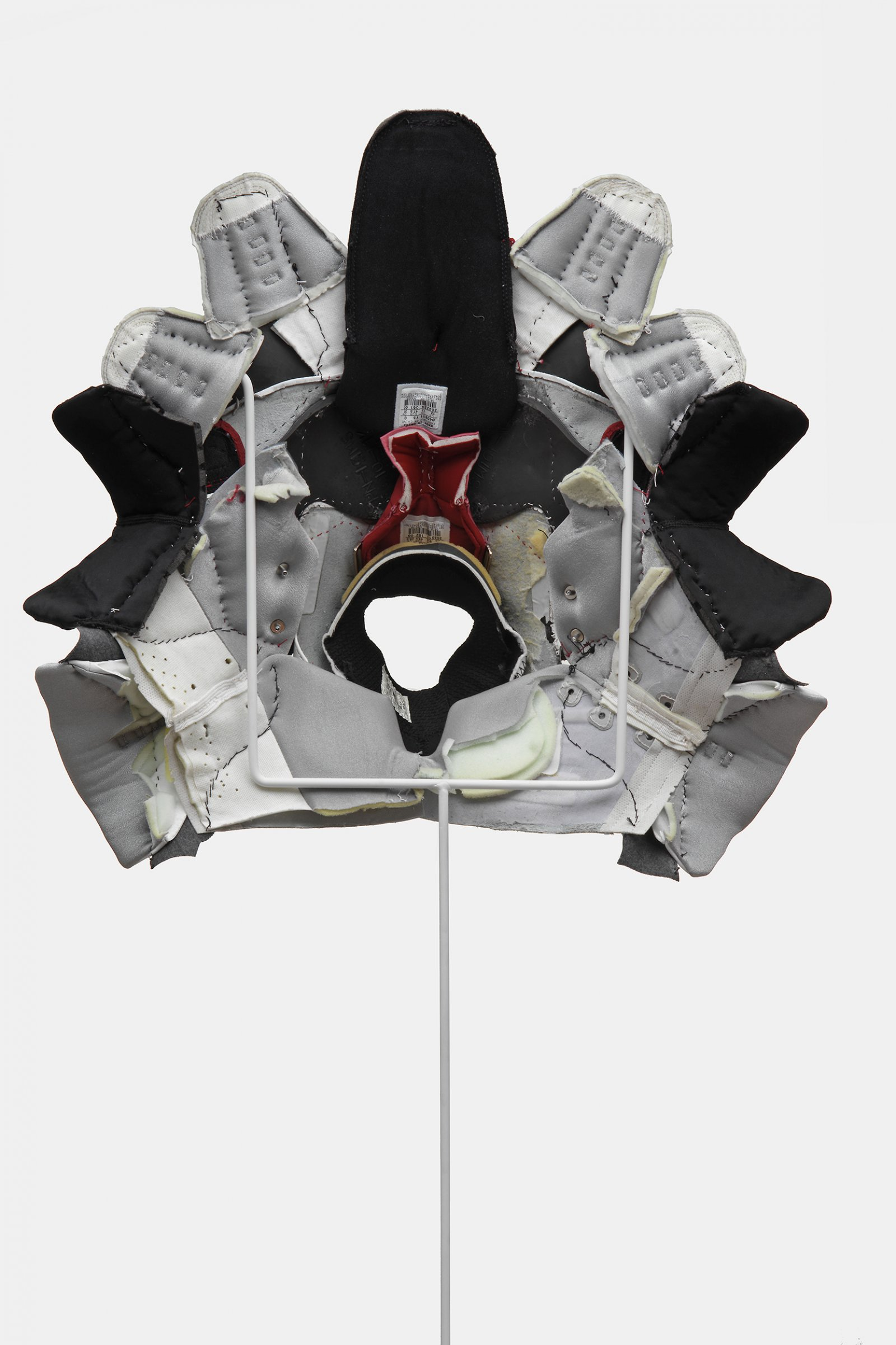 BrianJungen,Prototype for New Understanding #23, 2005, nike air jordans, human hair,19 x 20 x 6 in. (47 x 52 x 15 cm)