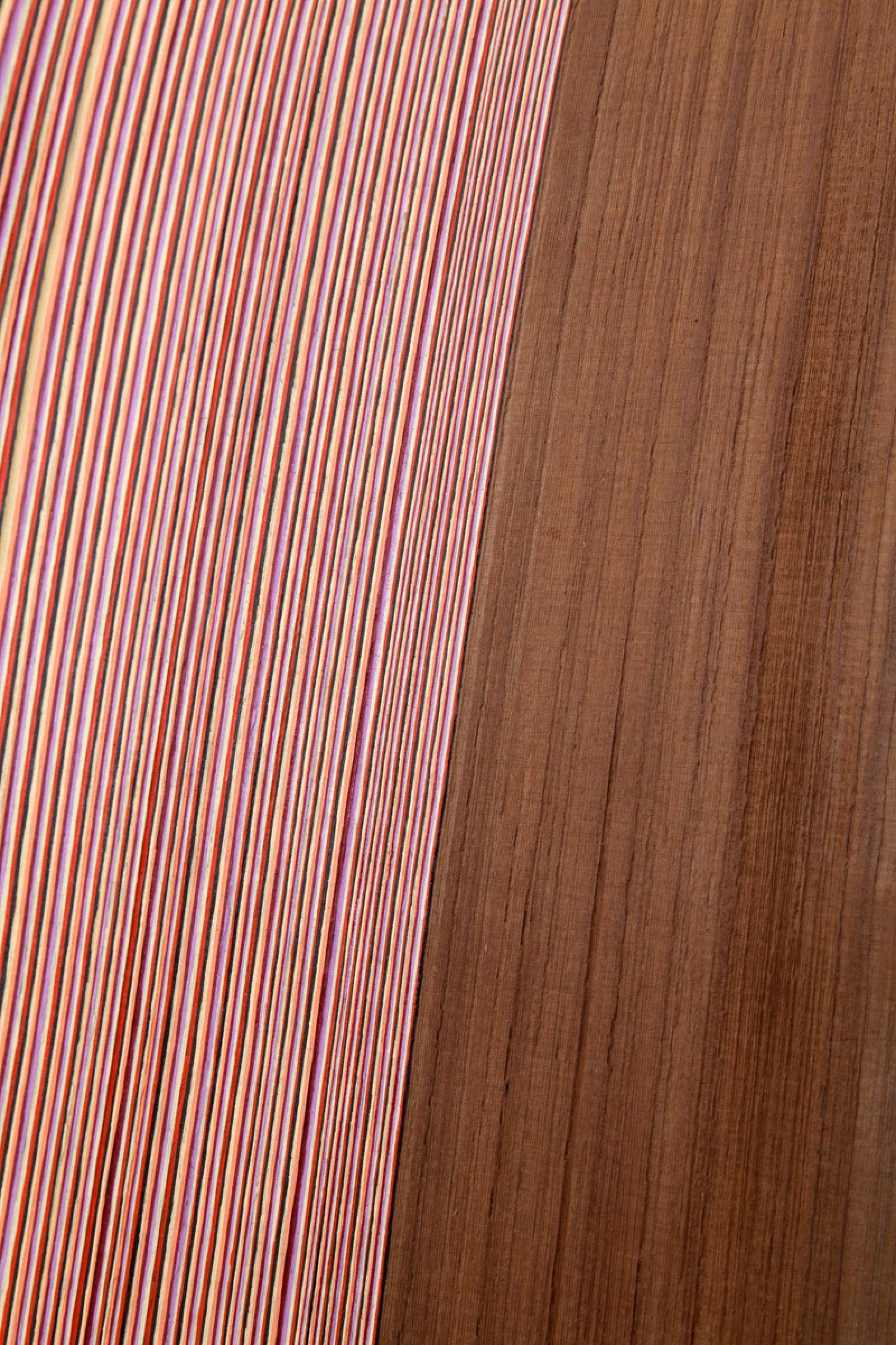 Brian Jungen,Shake (detail), 2014, cedar, alkyd-resin enamel, 28 x 12 x 1 in. (70 x 29 x 2 cm)