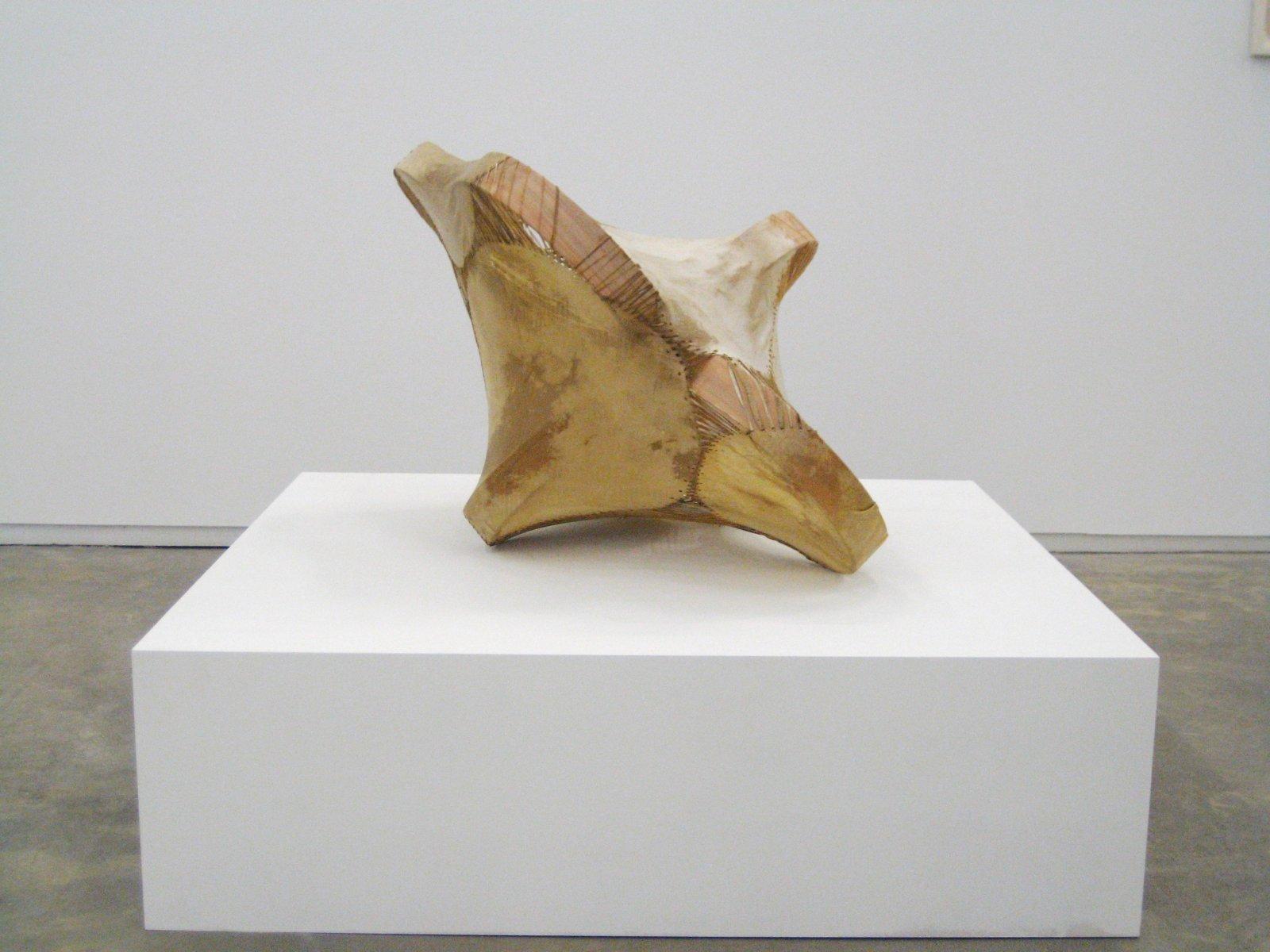 Brian Jungen,Sound Space II, 2010, willow, birch, deer and goat hide, 25 x 34 x 32 in. (64 x 86 x 81 cm)