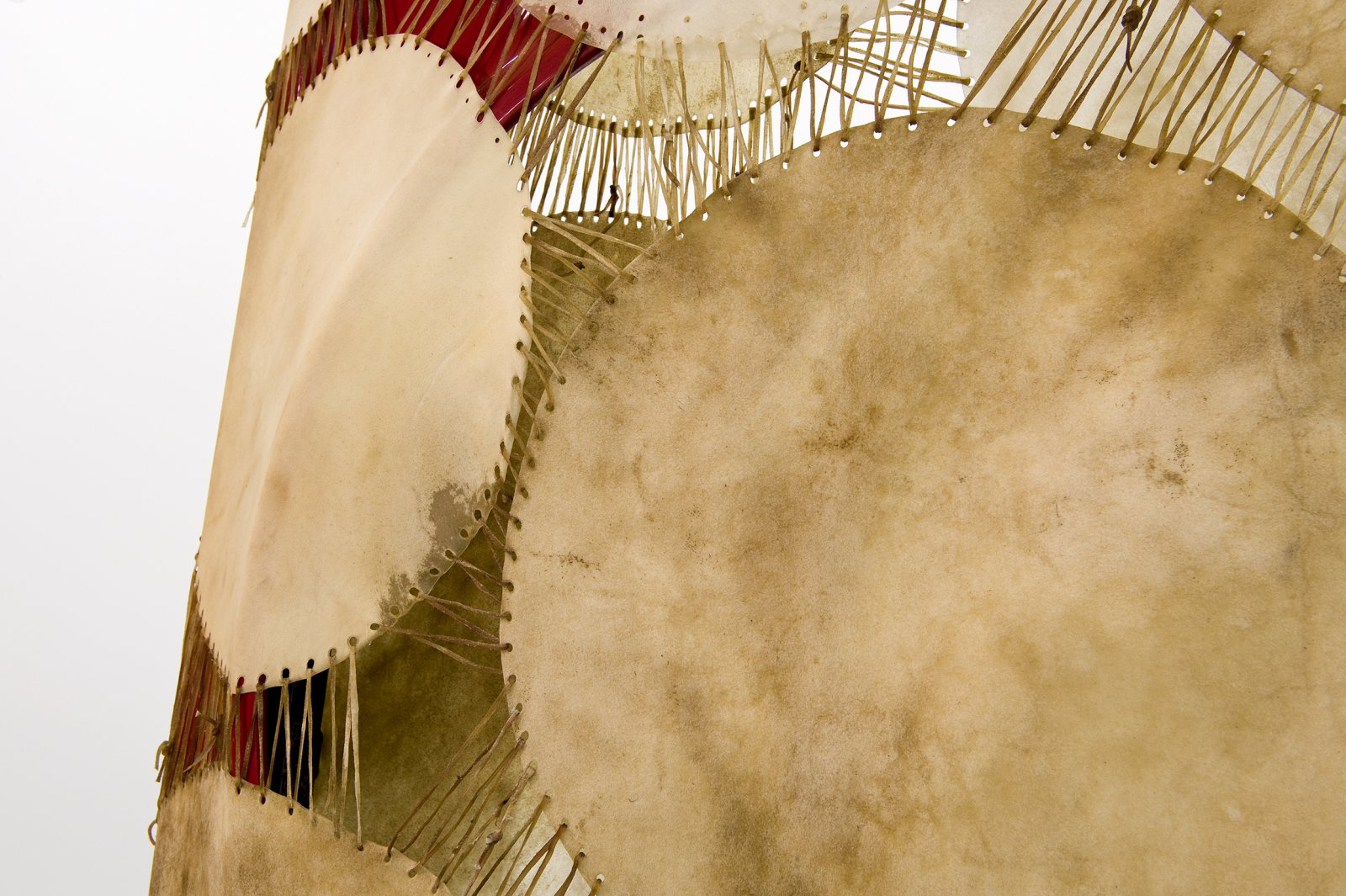 Brian Jungen, The Men of My Family (detail), 2010, moose and deer hide, car fenders, chest freezer, steel 106 x 48 x 30 in. (269 x 122 x 76 cm) by Brian Jungen