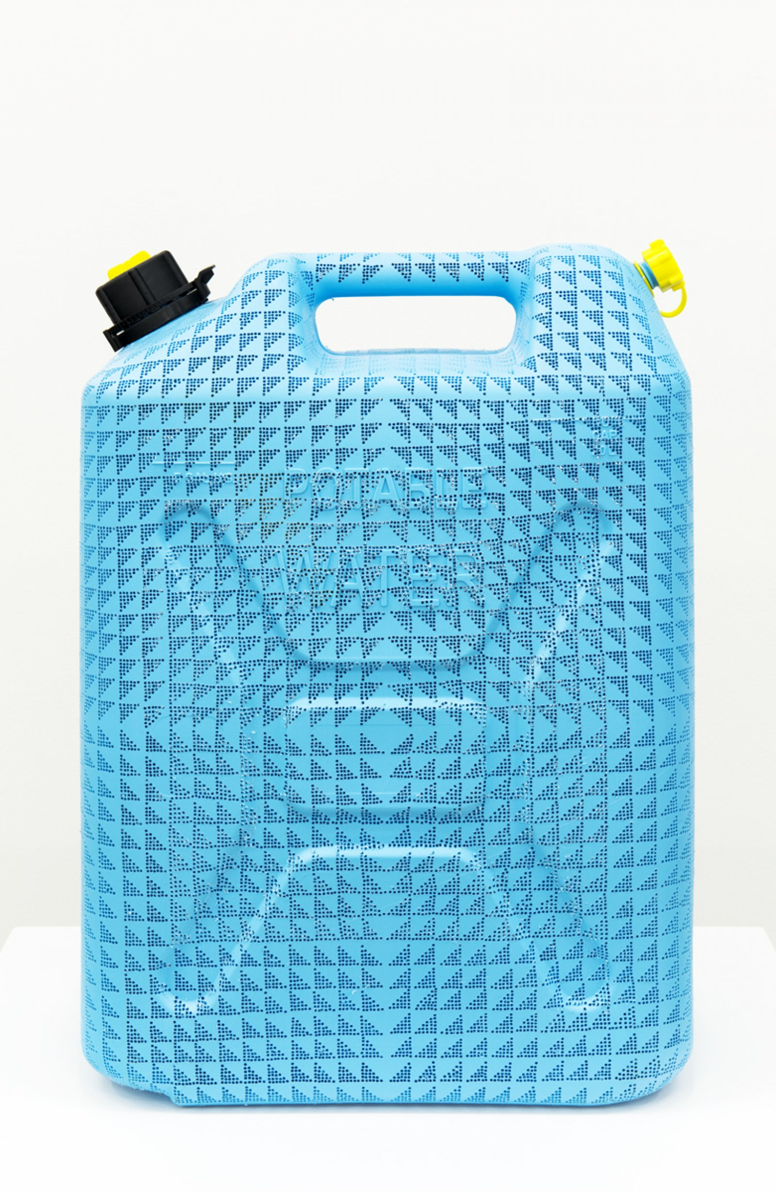 Brian Jungen,Triangle Repeater, 2013, carved gallon water jug,18 x 13 x 7 in. (46 x 33 x 18 cm)