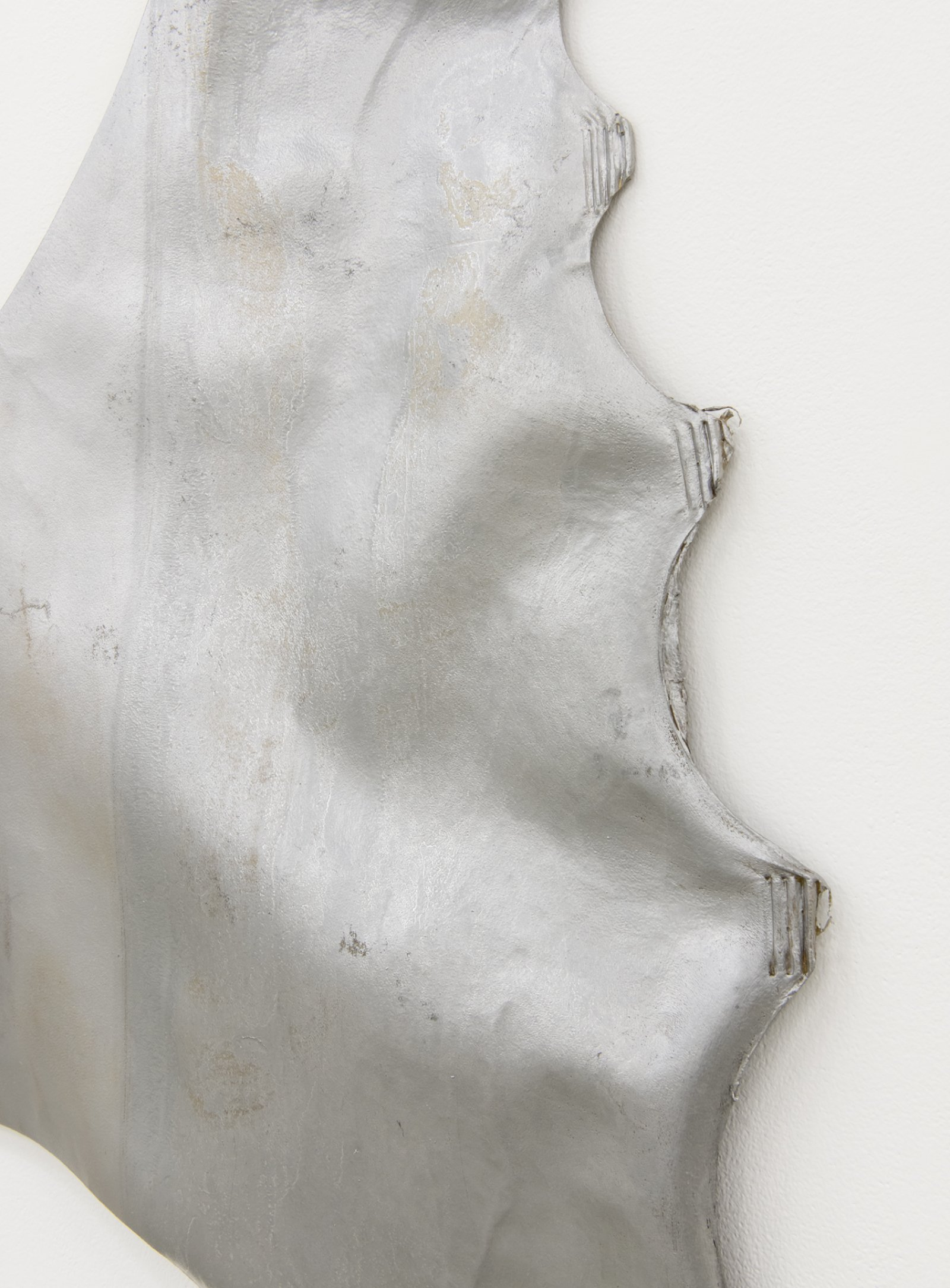 Brian Jungen,Untitled (detail), 2010, elk hide and silver ink, 106 x 53 x 4 in. (269 x 135 x 10 cm)