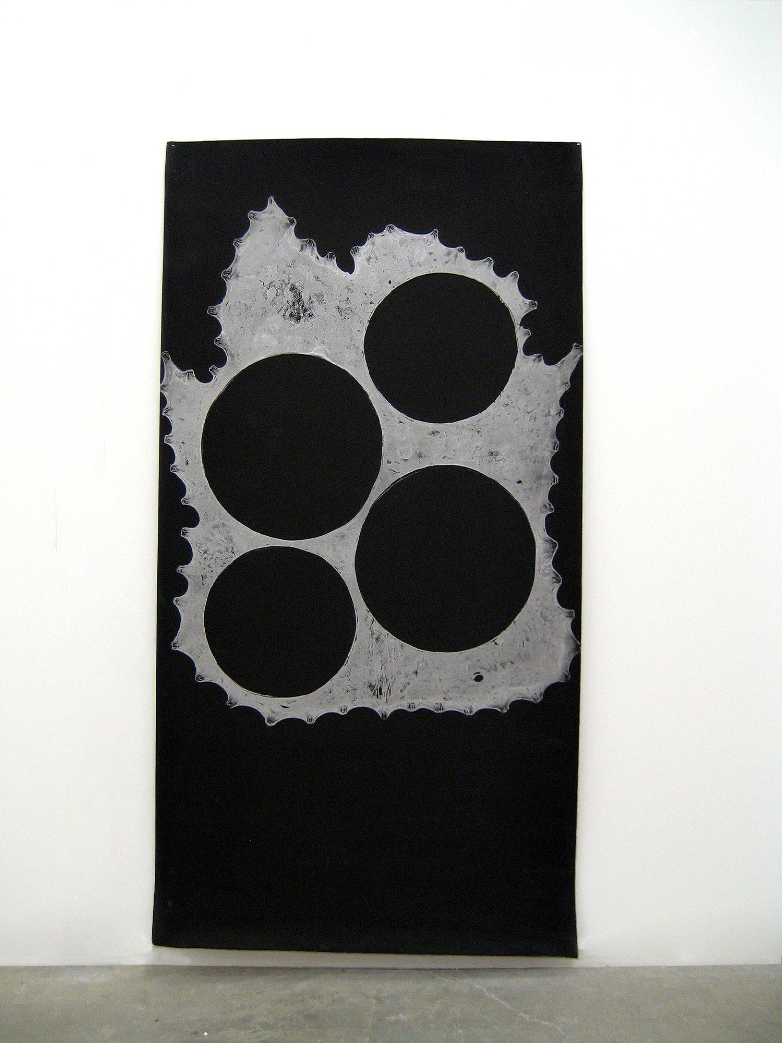 Brian Jungen,Untitled Monoprint, 2011, foam, silver relief ink, 79 x 41 in. (201 x 104 cm)