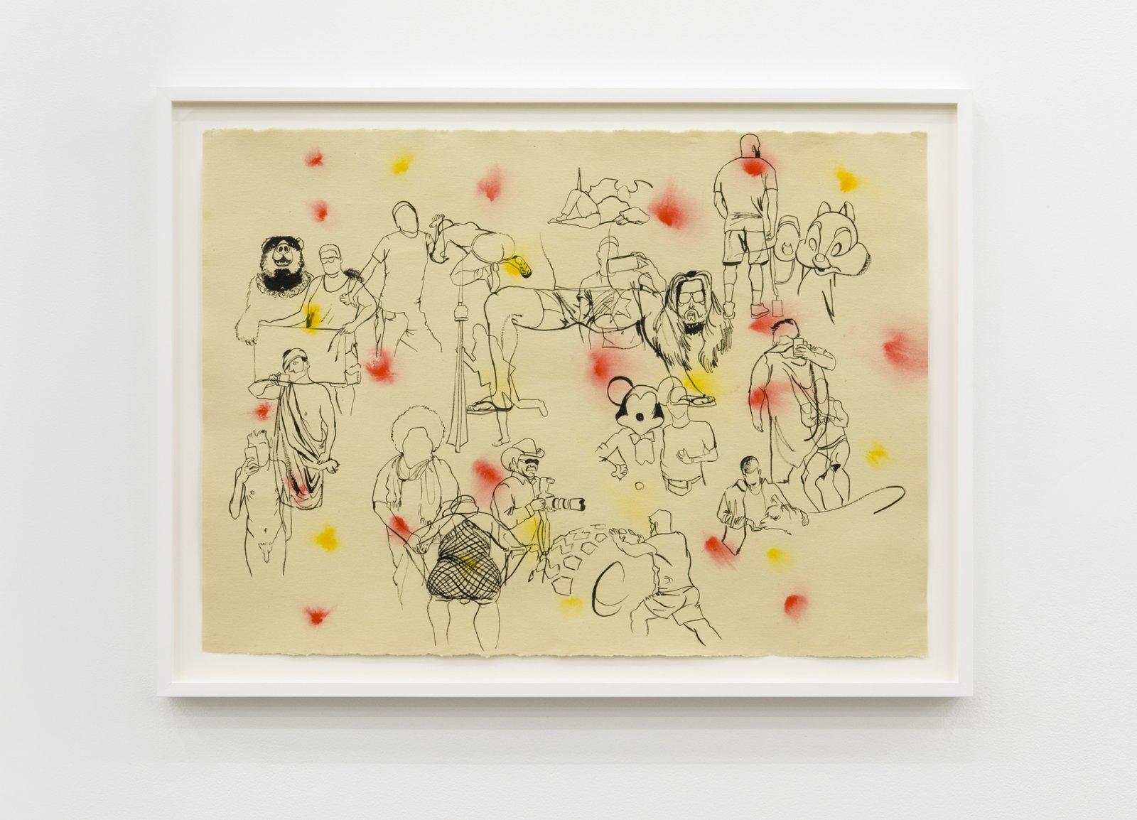 Brian Jungen,Untitled, 2017,felt marker on paper, 21 x 30 in. (52 x 75 cm)