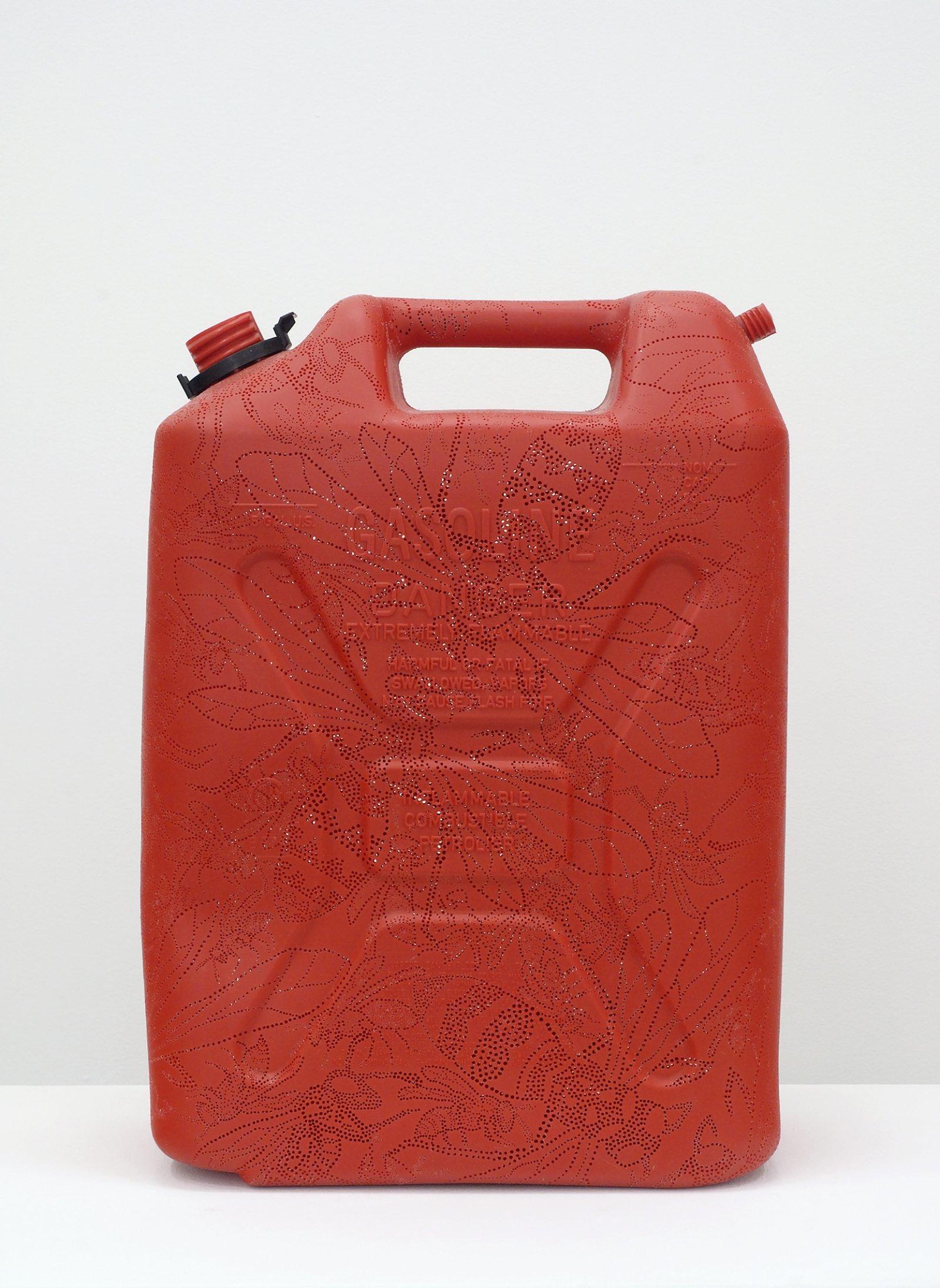 Brian Jungen,Wasp, 2008, carved gallon gasoline jug, 18 x 13 x 7 in. (46 x 33 x 18 cm)