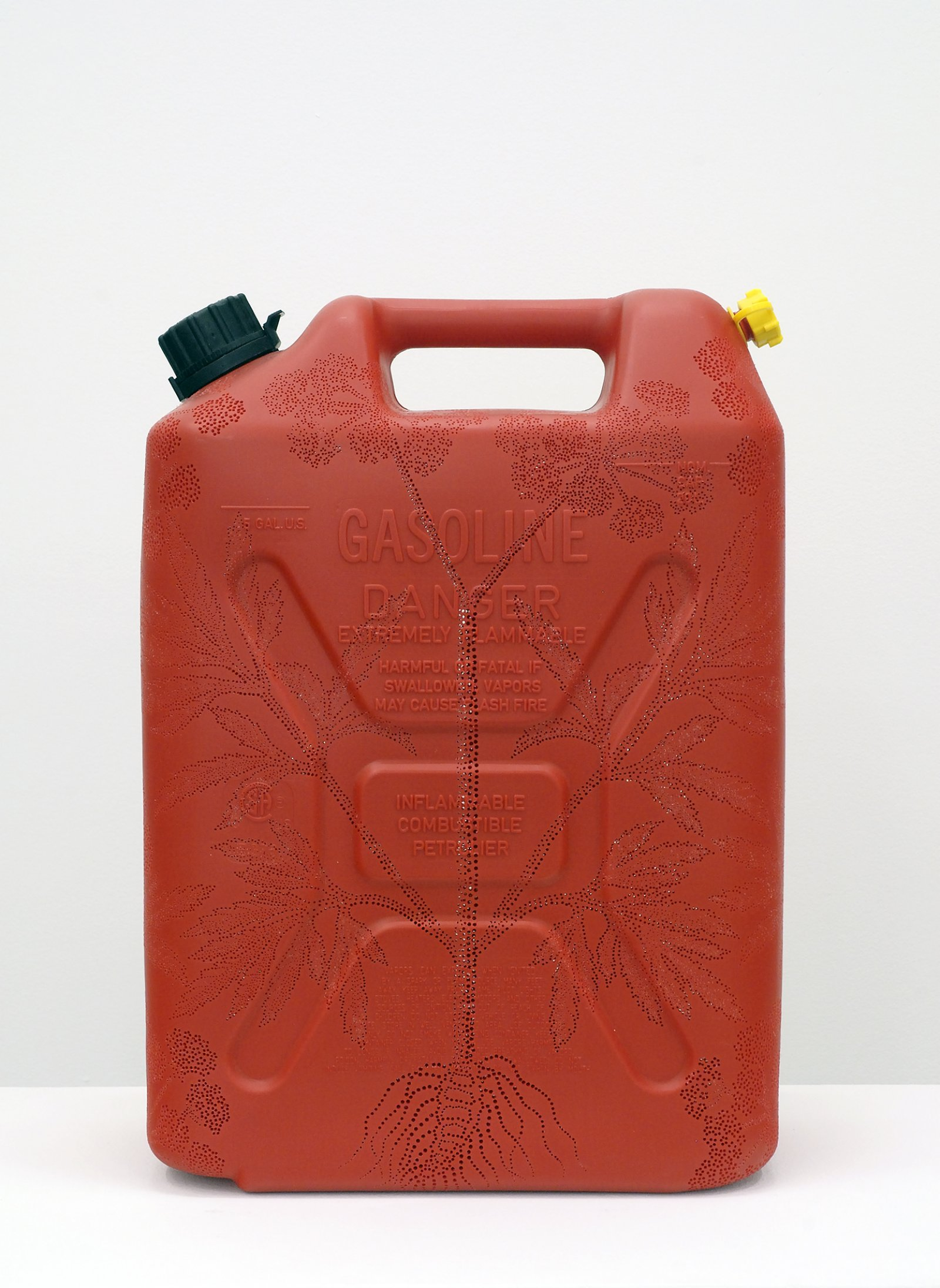 Brian Jungen,Water Hemlock, 2008, carved gallon gasoline jug, 18 x 13 x 7 in. (46 x 33 x 18 cm)