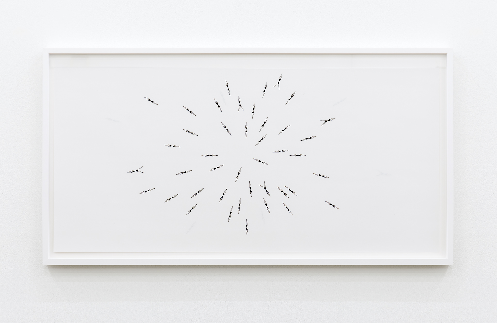 ​​​​​​​Janice Kerbel, Sync (Explode), 2017, double sided silkscreen print on paper, 33 x 17 in. (84 x 42 cm)​​​​​​​​​ by