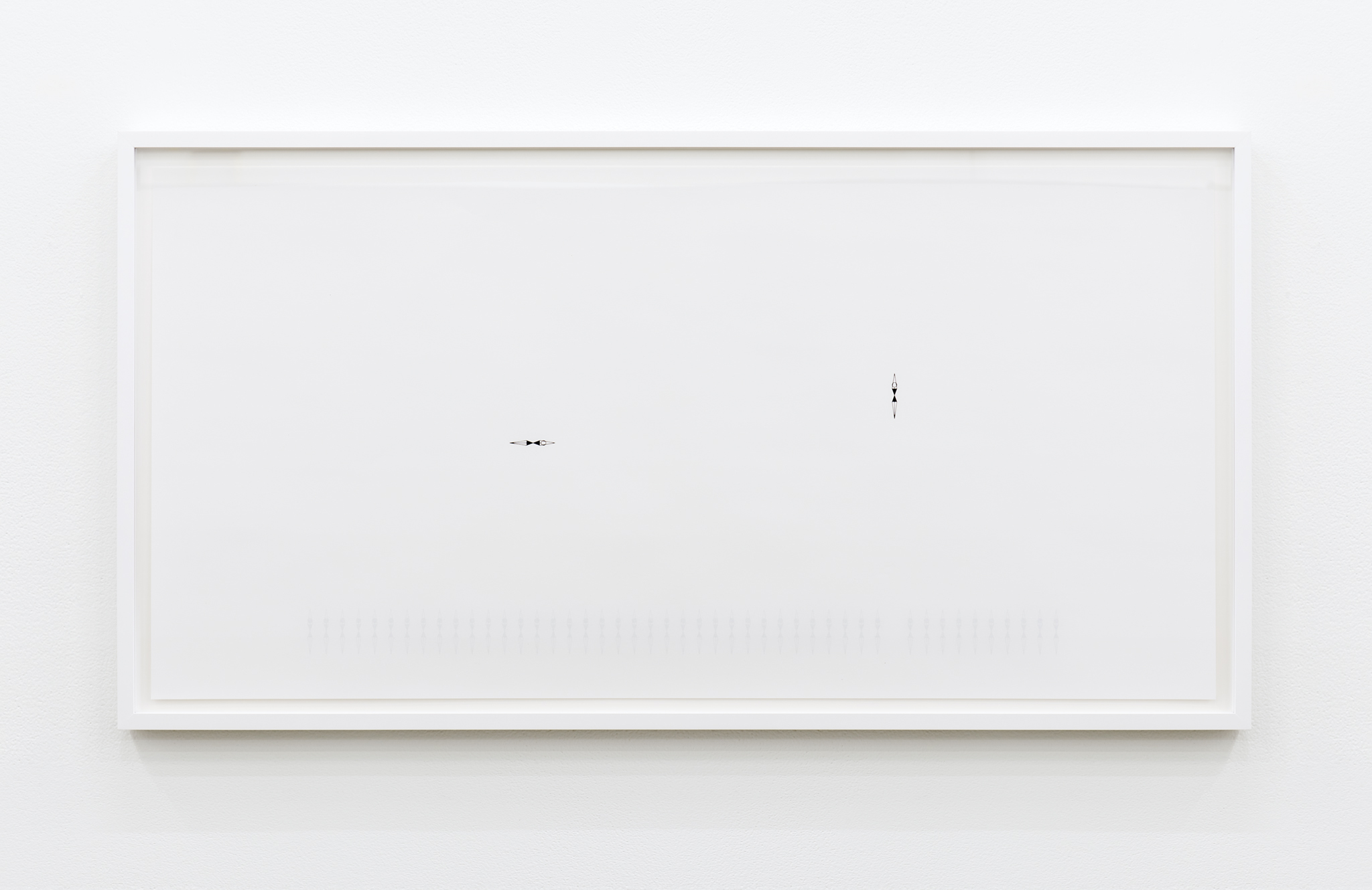 ​Janice Kerbel, Sync (Line), 2017, double sided silkscreen print on paper, 33 x 17 in. (84 x 42 cm)​​​ by