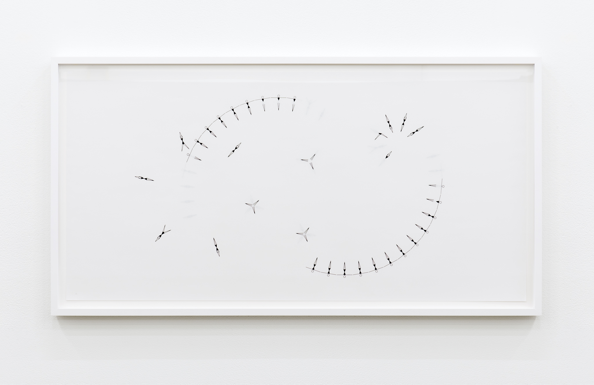 ​​​​​​​​​​​Janice Kerbel, Sync (Split Circle), 2017, double sided silkscreen print on paper, 33 x 17 in. (84 x 42 cm)​​​​​​​​​​​​​ by