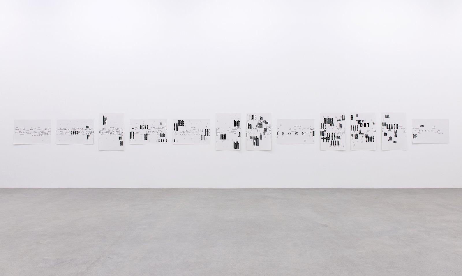 Janice Kerbel, Score, 'Bear', 2015, 12 silkscreen prints on paper, composition: 33 x 386 in. (84 x 981 cm), each sheet: 22 x 33 in. (56 x 84 cm)  by Janice Kerbel