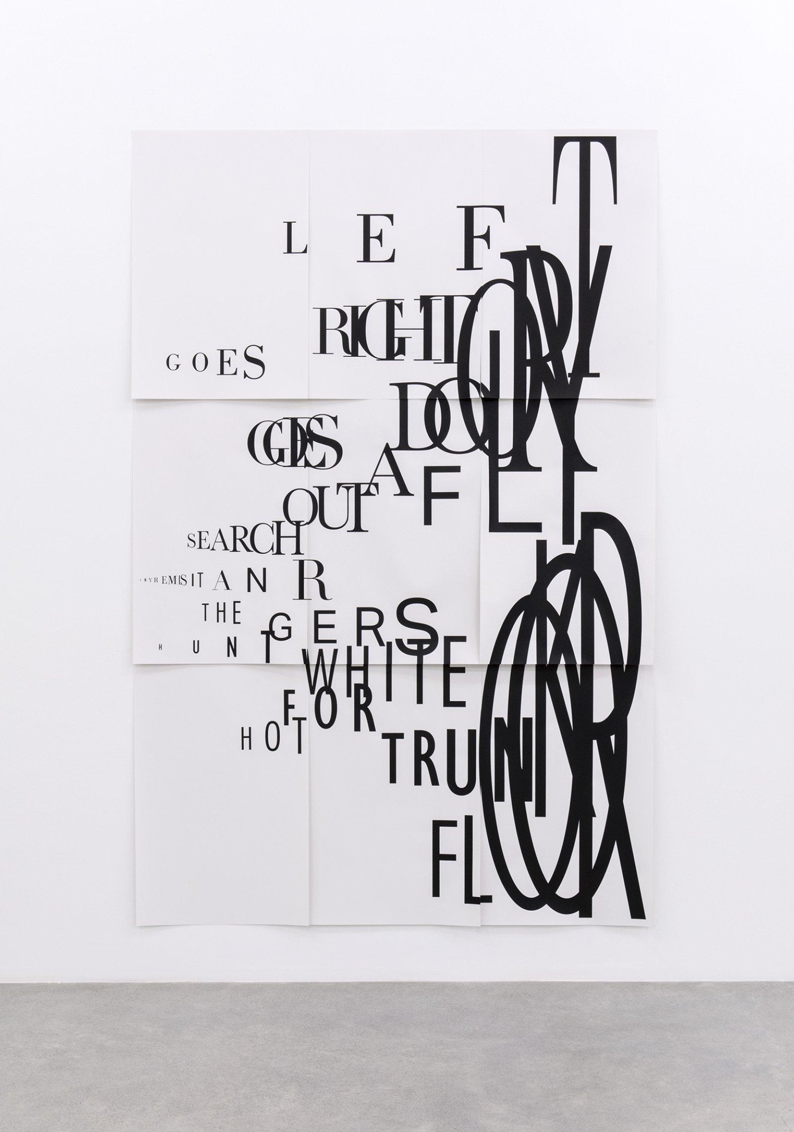 Janice Kerbel, Score, 'Blast', 2015, 9 silkscreen prints on paper, composition: 98 x 65 in. (250 x 167 cm), each sheet: 22 x 33 in. (56 x 84 cm)   by Janice Kerbel