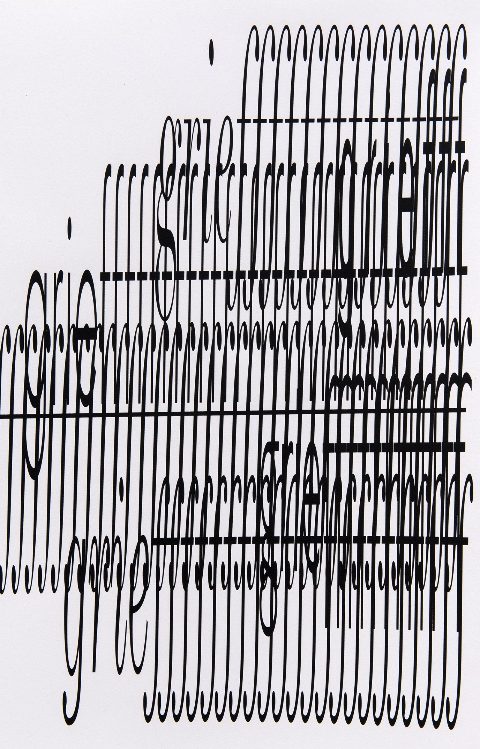 Janice Kerbel, Score, 'Crash' (detail), 2015, 3 silkscreen prints on paper, composition: 22 x 131 in. (56 x 334 cm), each sheet: 22 x 33 in. (56 x 84 cm) by Janice Kerbel