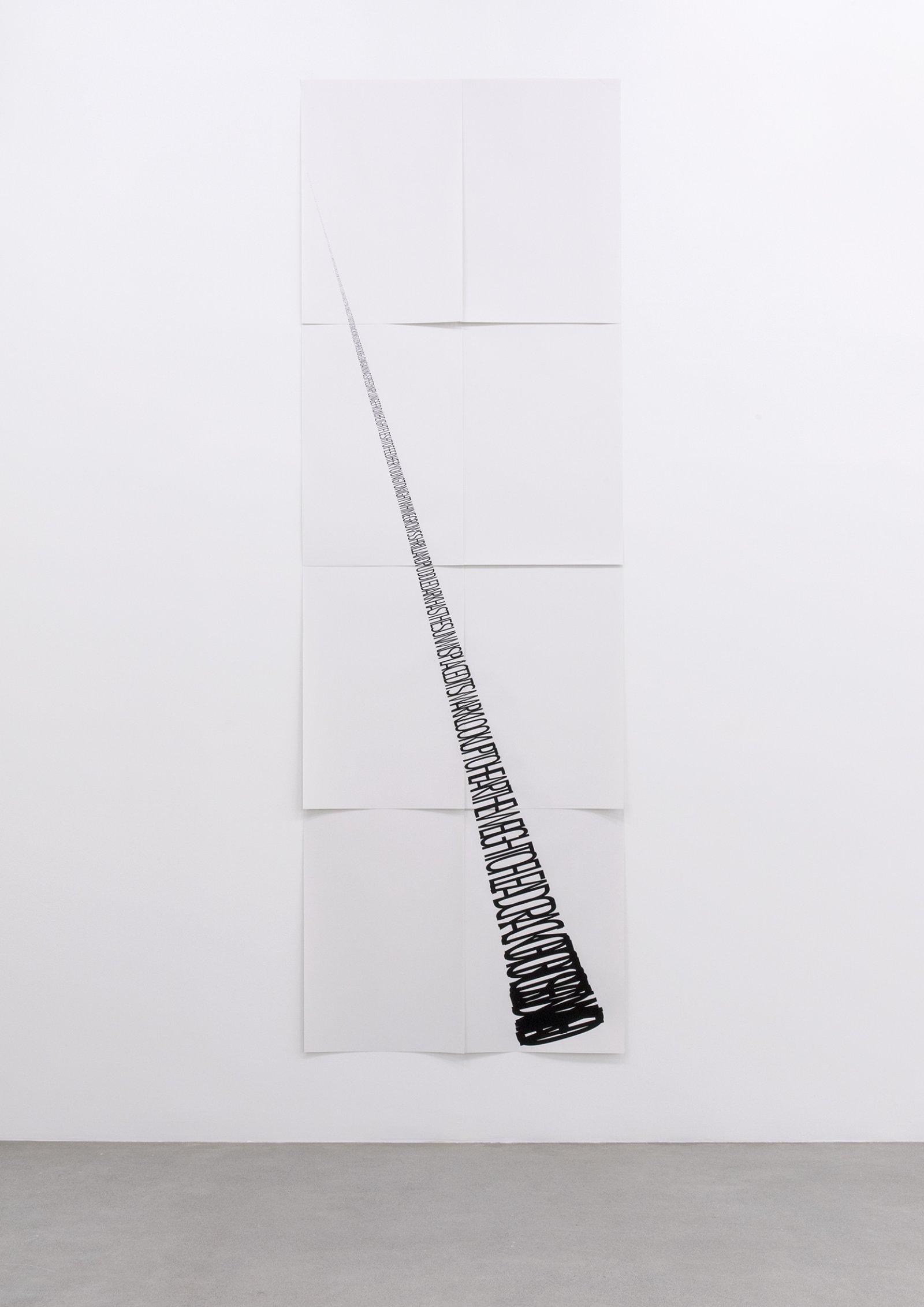 Janice Kerbel, Score, 'Hit', 2015, 8 silkscreen prints on paper, composition: 131 x 43 in. (131 x 110 cm), each sheet: 22 x 33 in. (56 x 84 cm)   by Janice Kerbel