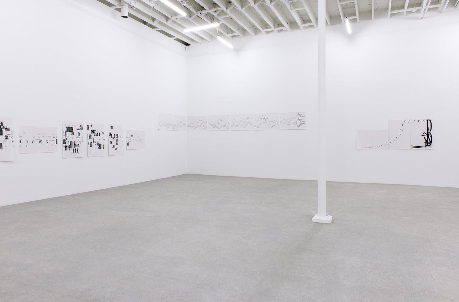 Janice Kerbel, installation view, Score, Catriona Jeffries, 2015  by Janice Kerbel