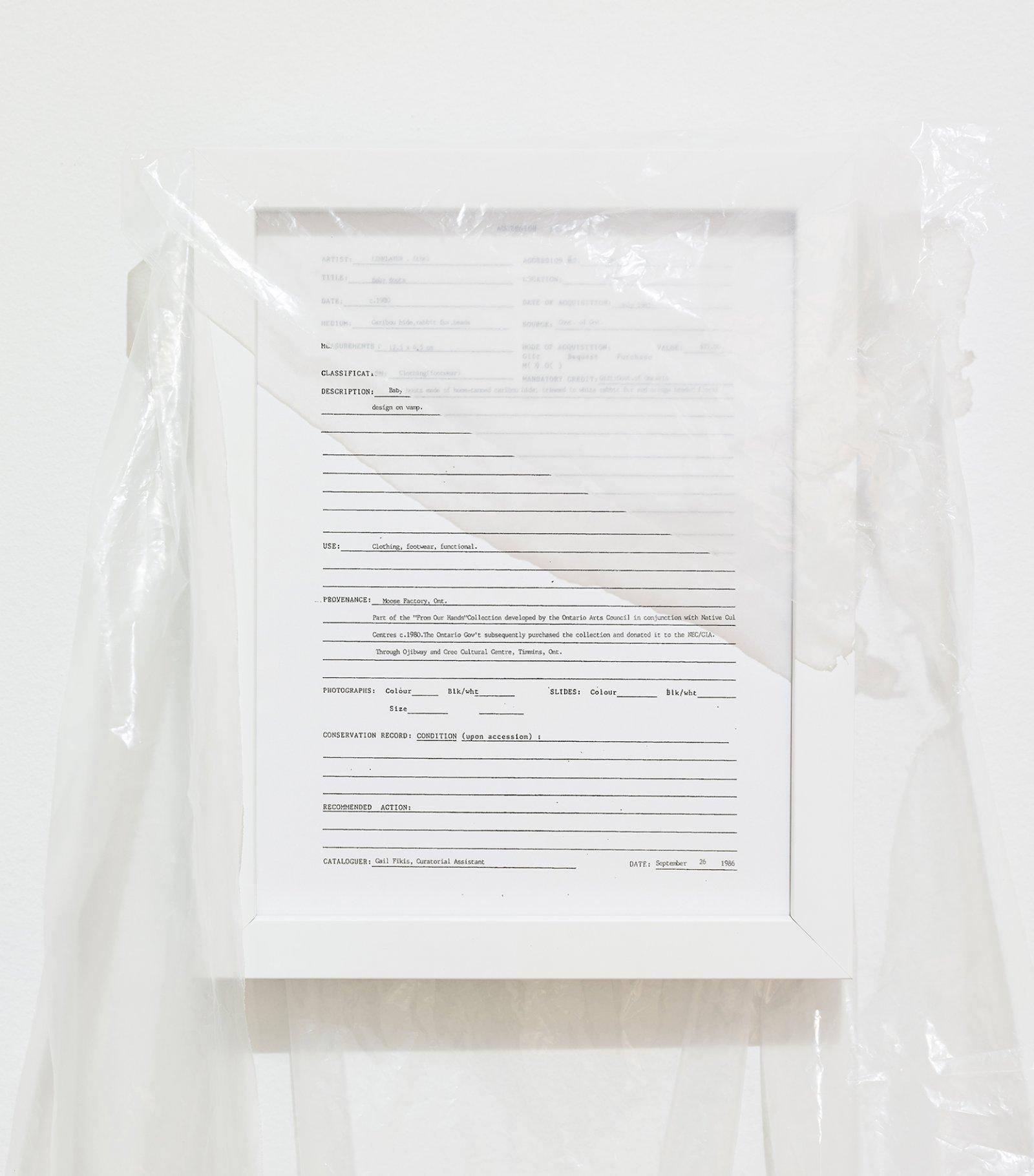 Duane Linklater, Accession, 2016, framed digital print, plastic, 10 x 12 in. (25 x 31 cm) by Duane Linklater