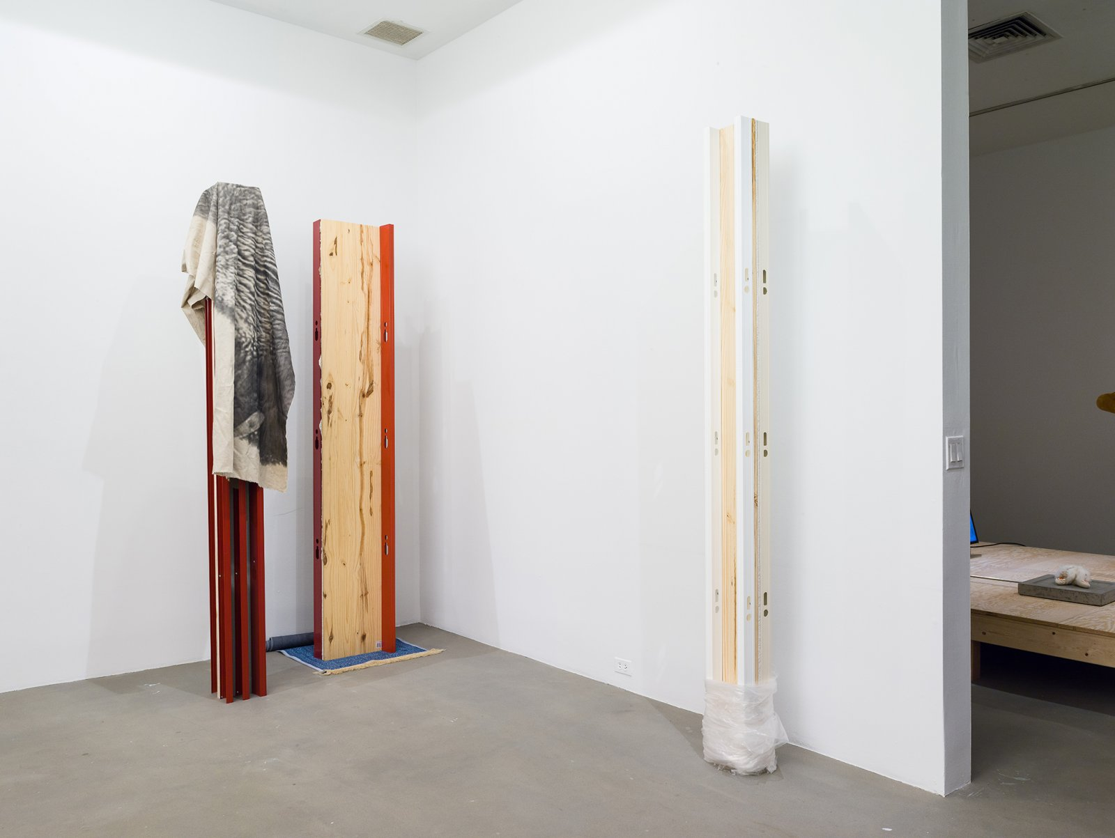 Duane Linklater, installation view, From Our Hands, 80WSE Gallery, New York, 2016 by Duane Linklater