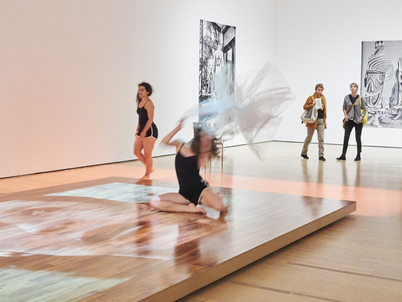 Tanya Lukin Linklater, He was a poet and he taught us how to react and to become this poetry, Part 2, 2016, site-specific performance. Performance documentation, Le Grand Balcon, La Biennale de Montréal, Museé d'art contemporain de Montréal, Canada, 2016