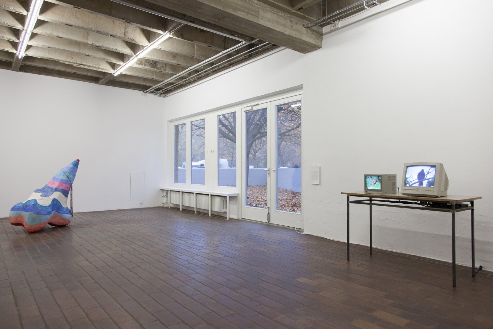​​Christina Mackie, installation view, ​And Bird, PRAXES, Berlin, 2014​ by Christina Mackie
