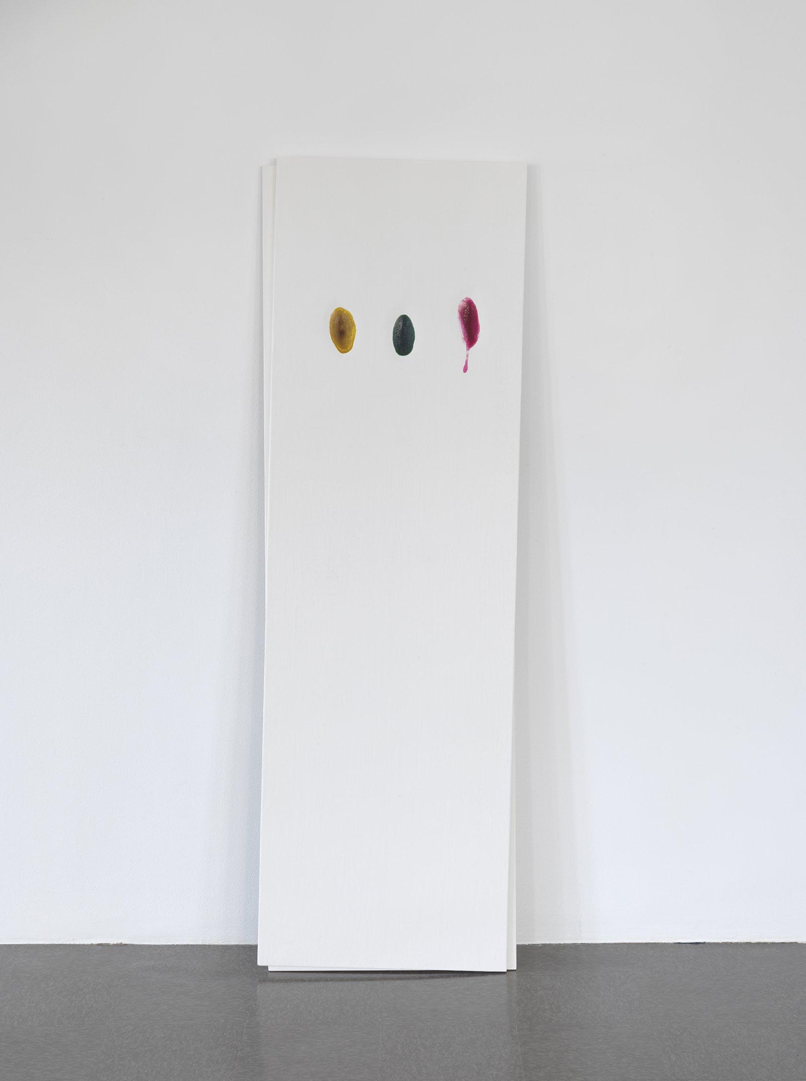 Christina Mackie, Chalk no. 1, 2014, birch, gesso, watercolour, 78 x 24 in. (198 x 62 cm) by Christina Mackie