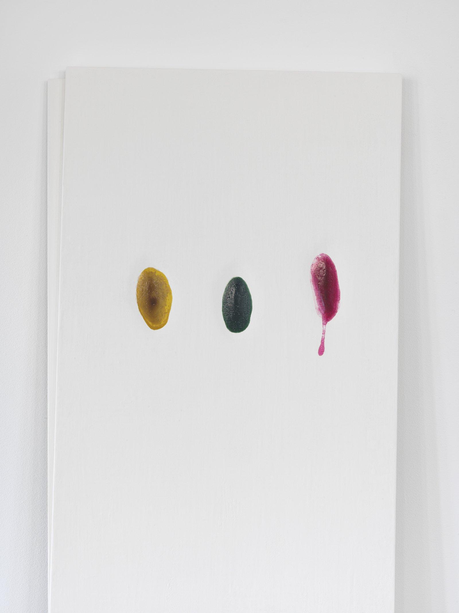 Christina Mackie, Chalk no. 1 (detail), 2014, birch, gesso, watercolour, 78 x 24 in. (198 x 62 cm) by Christina Mackie