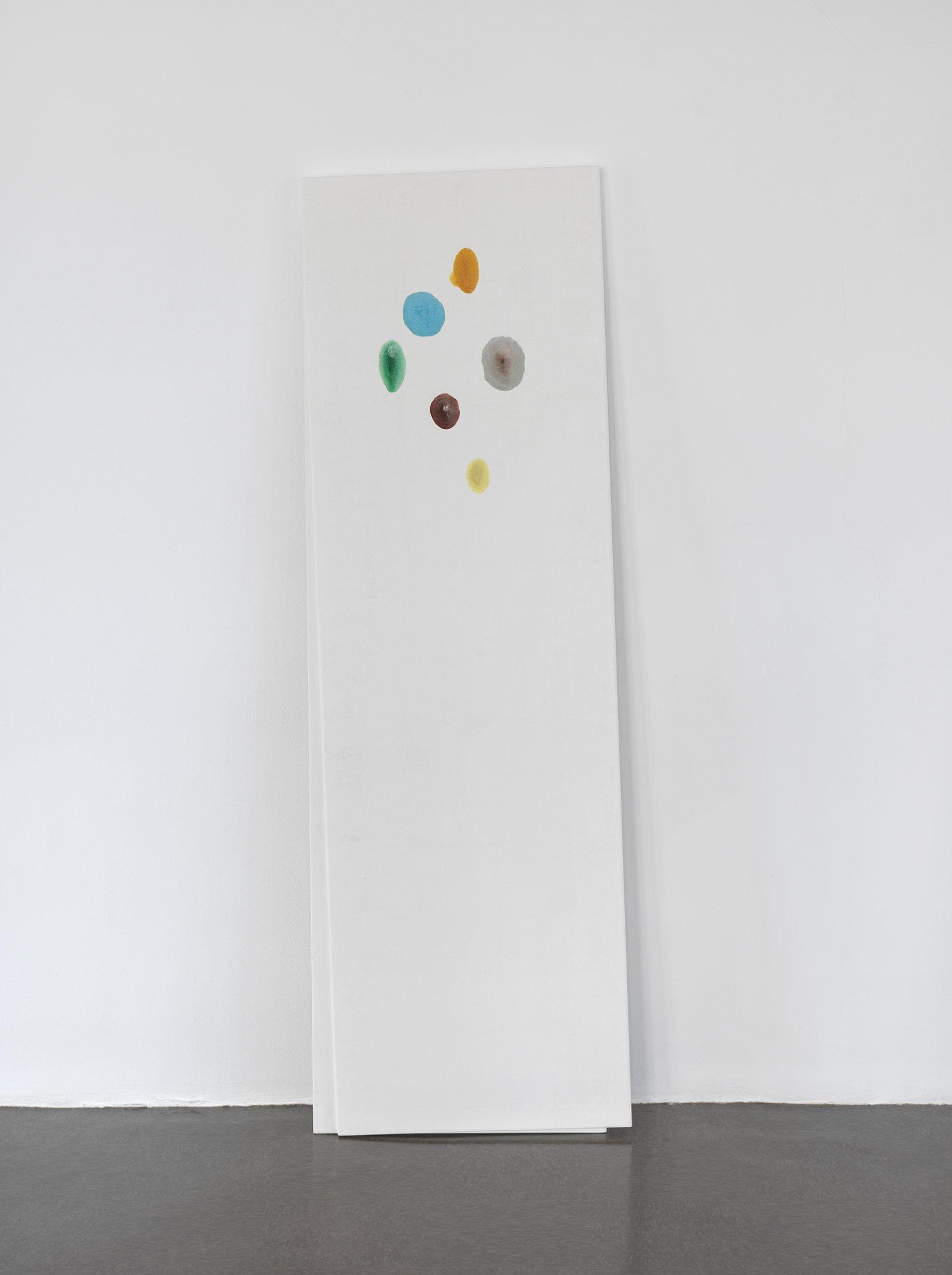 Christina Mackie, Chalk no. 3, 2014, birch, gesso, watercolour, 78 x 24 in. (198 x 62 cm) by Christina Mackie