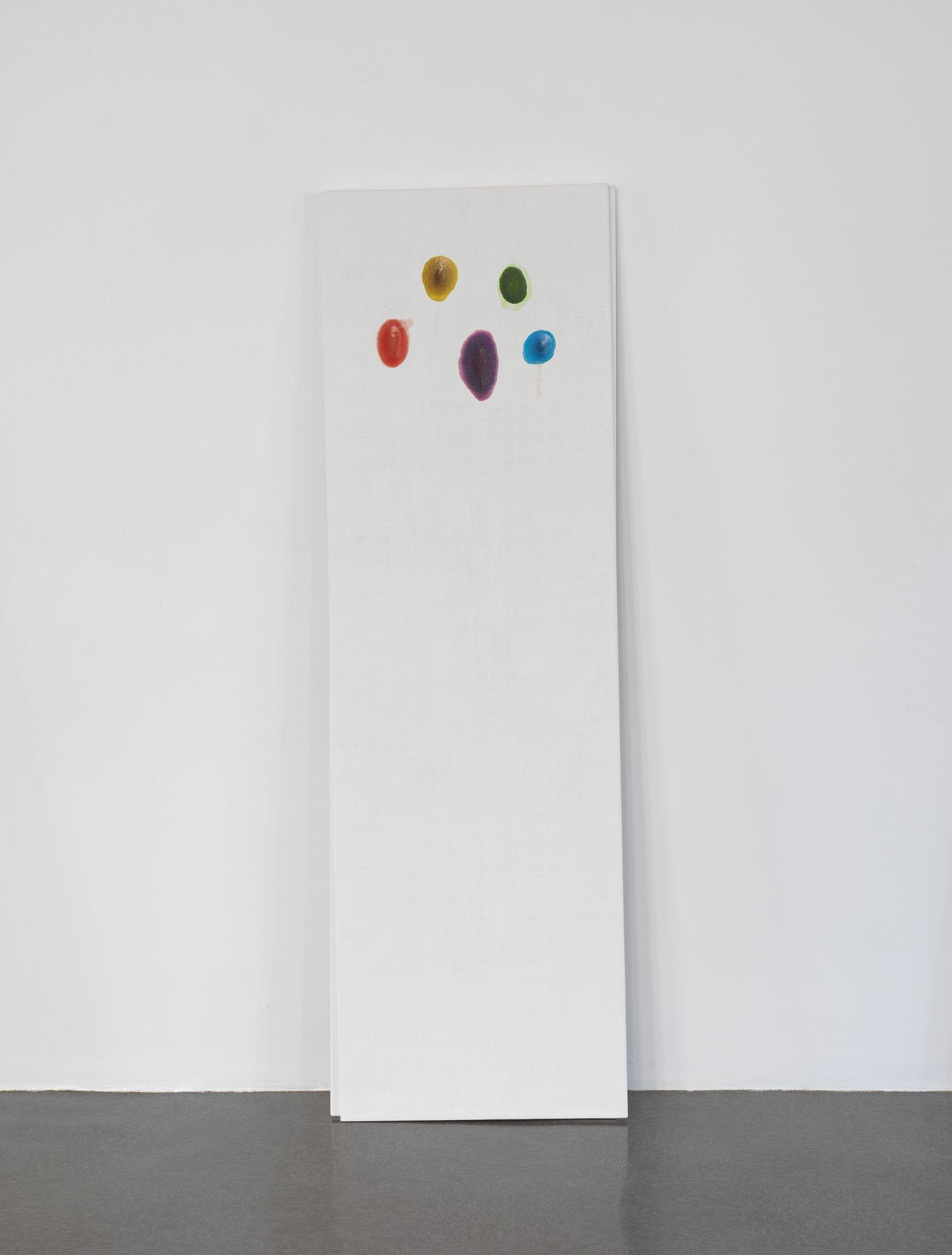 Christina Mackie, Chalk no. 4, 2014, birch, gesso, watercolour, 78 x 24 in. (198 x 62 cm)   by Christina Mackie