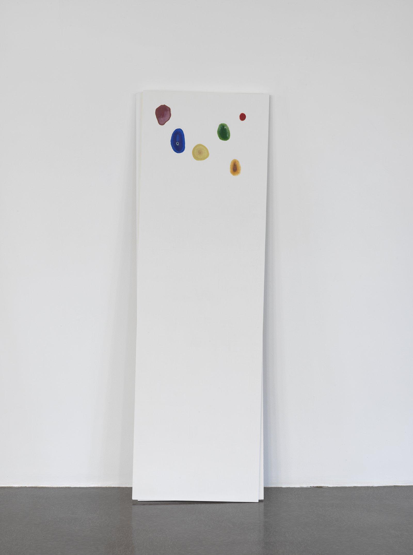Christina Mackie, Chalk no. 5, 2014, birch, gesso, watercolour, 78 x 24 in. (198 x 62 cm)   by Christina Mackie