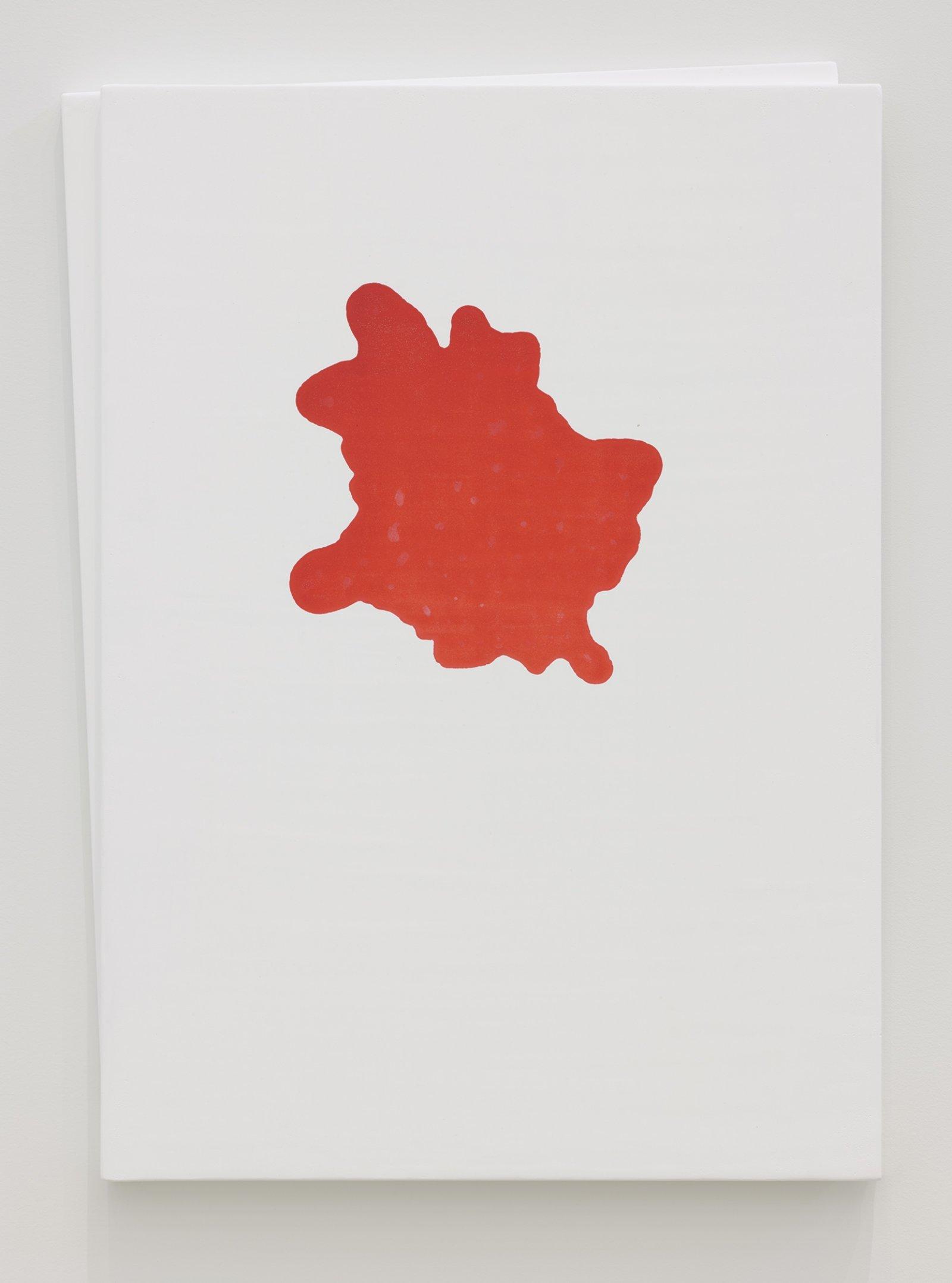 Christina Mackie, Chalk no. 7, 2019, birch ply, chalk gesso, watercolour, 35 x 26 in. (88 x 65 cm) by Christina Mackie