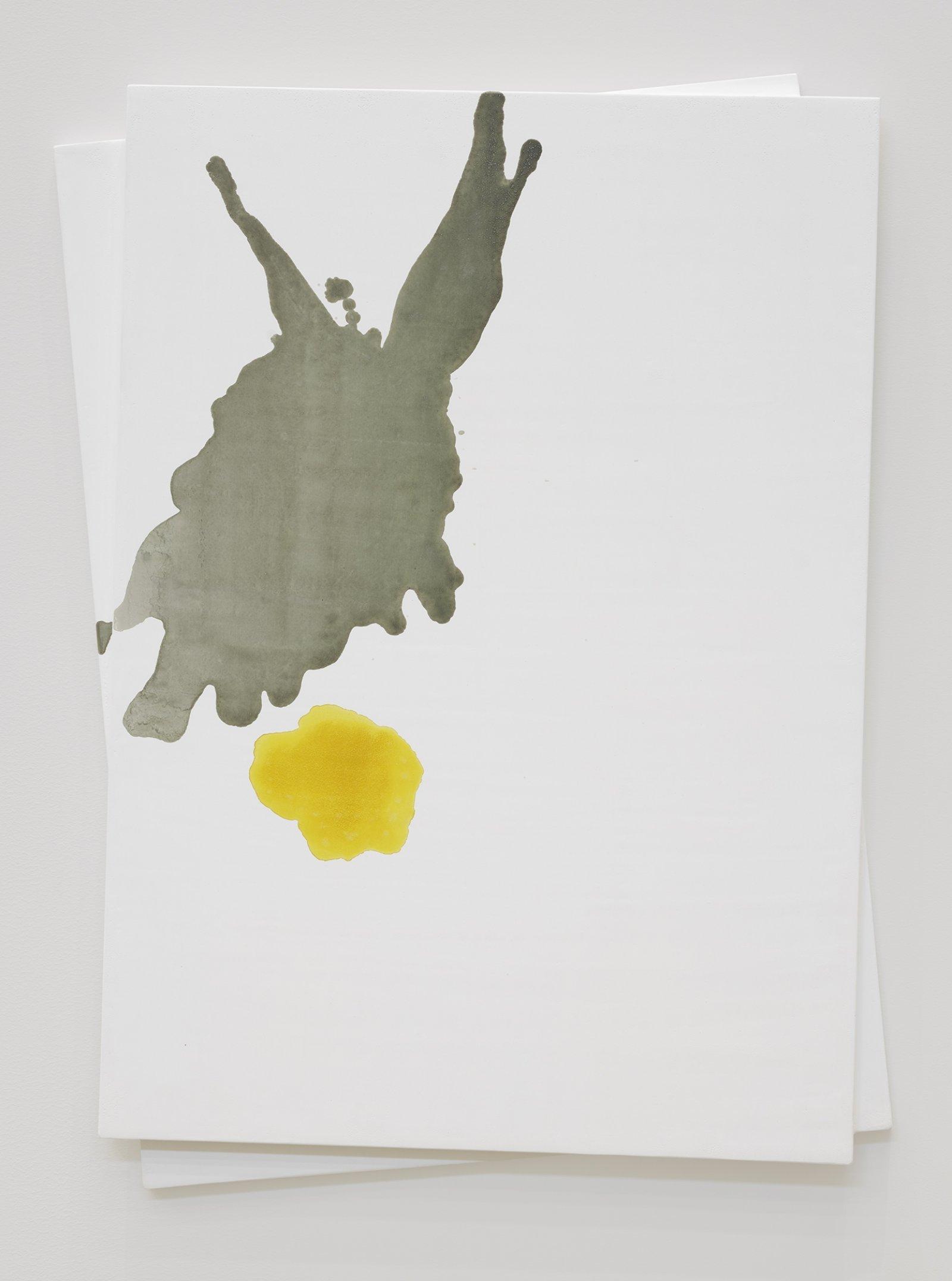 Christina Mackie, Chalk no. 9, 2019, birch ply, chalk gesso, watercolour, 35 x 27 in. (90 x 69 cm) by Christina Mackie