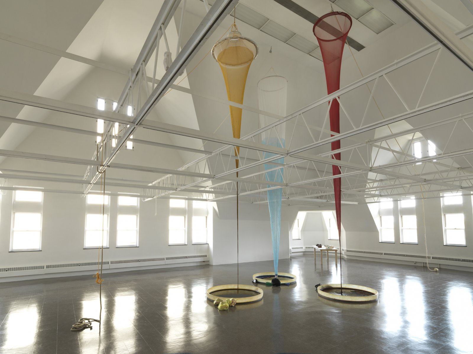 Christina Mackie, Colour Drop, 2014, mixed media, dimensions variable. Installation view, Colourdrop,TheRenaissanceSociety,Chicago, 2014 by Christina Mackie