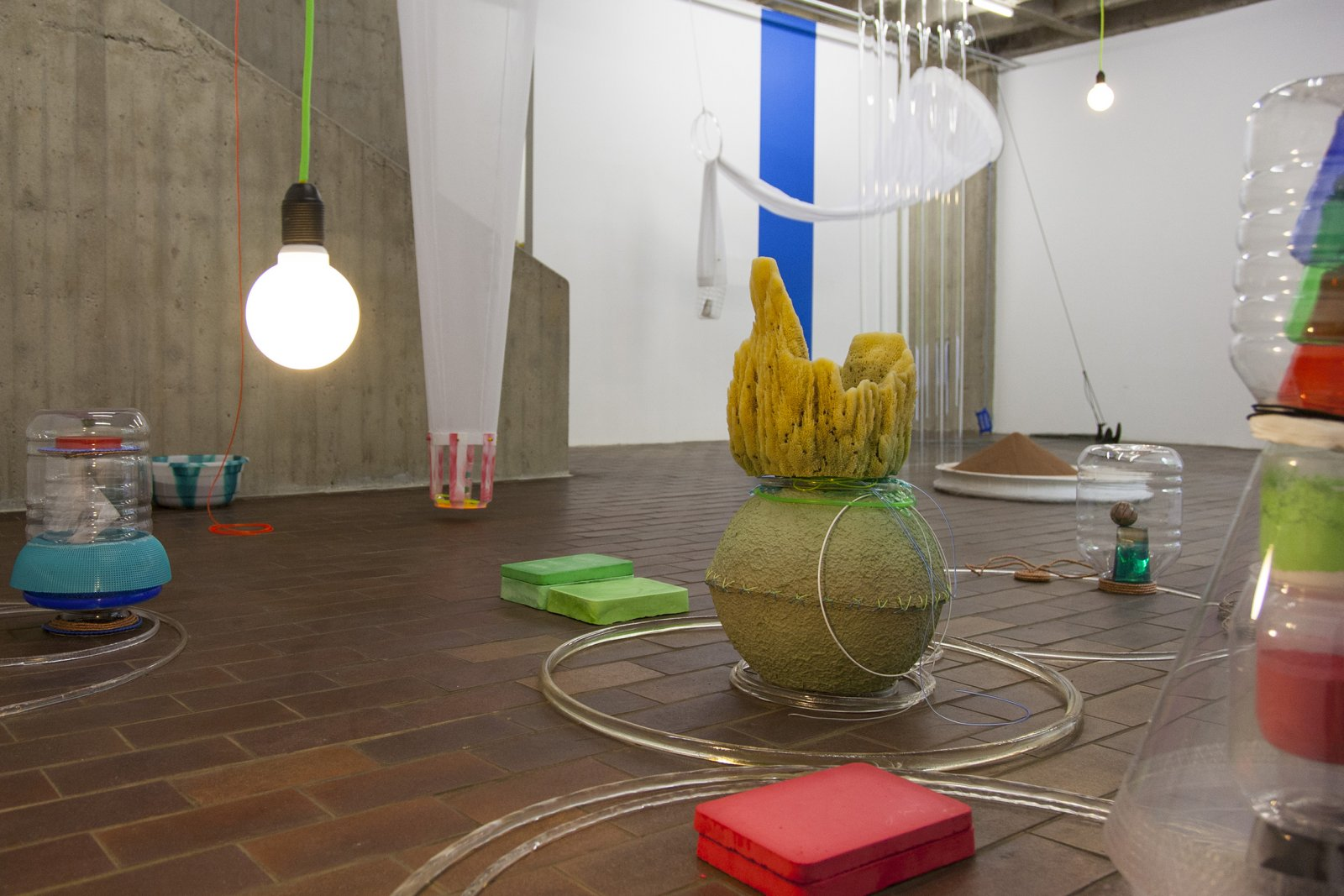 ​Christina Mackie, Sketch for Drop, 2014, mixed media, dimensions variable. Installation view, ​Drop​, PRAXES, Berlin, 2014 by Christina Mackie