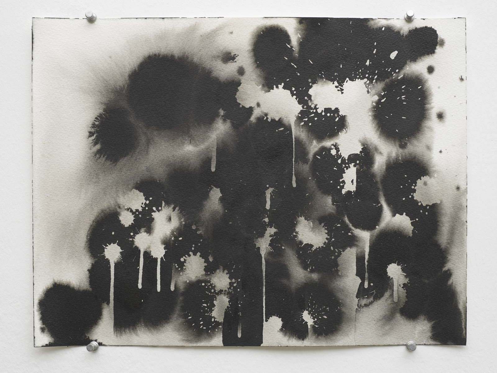 Christina Mackie, Studies for Explosions, 2011, indian ink on paper, dimensions variable by Christina Mackie