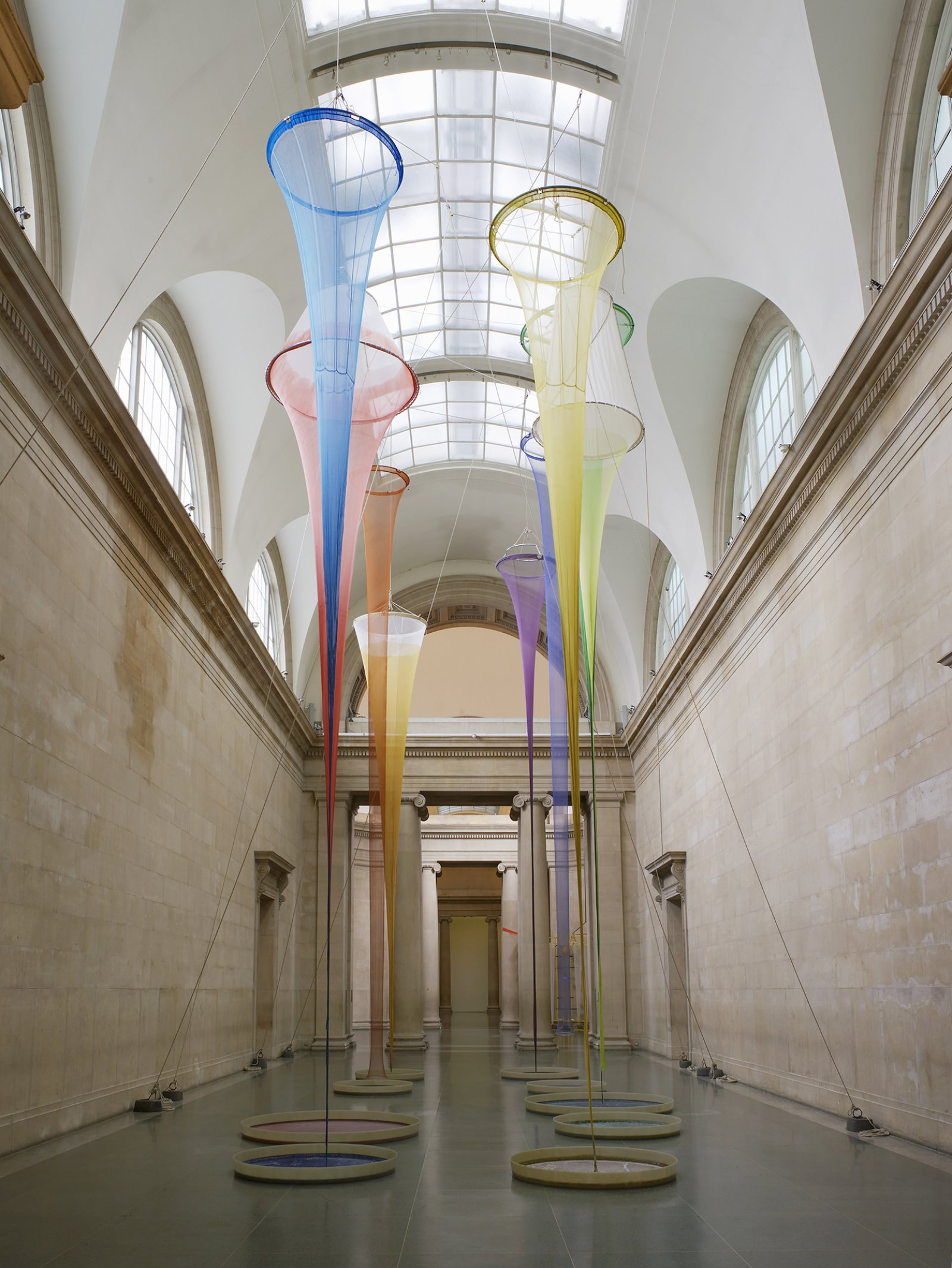 Christina Mackie, Filters, 2015, mixed media, dimensions variable. Installation view, The filters, Tate Britain, London, UK, 2015 by Christina Mackie