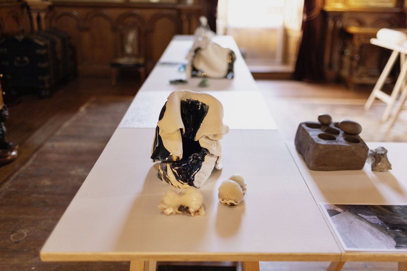 Christina Mackie, The Judges III, 2013, mixed media, dimensions variable. Installation view, The Judges III, Hospitalfield, Angus, UK, 2021 by Christina Mackie