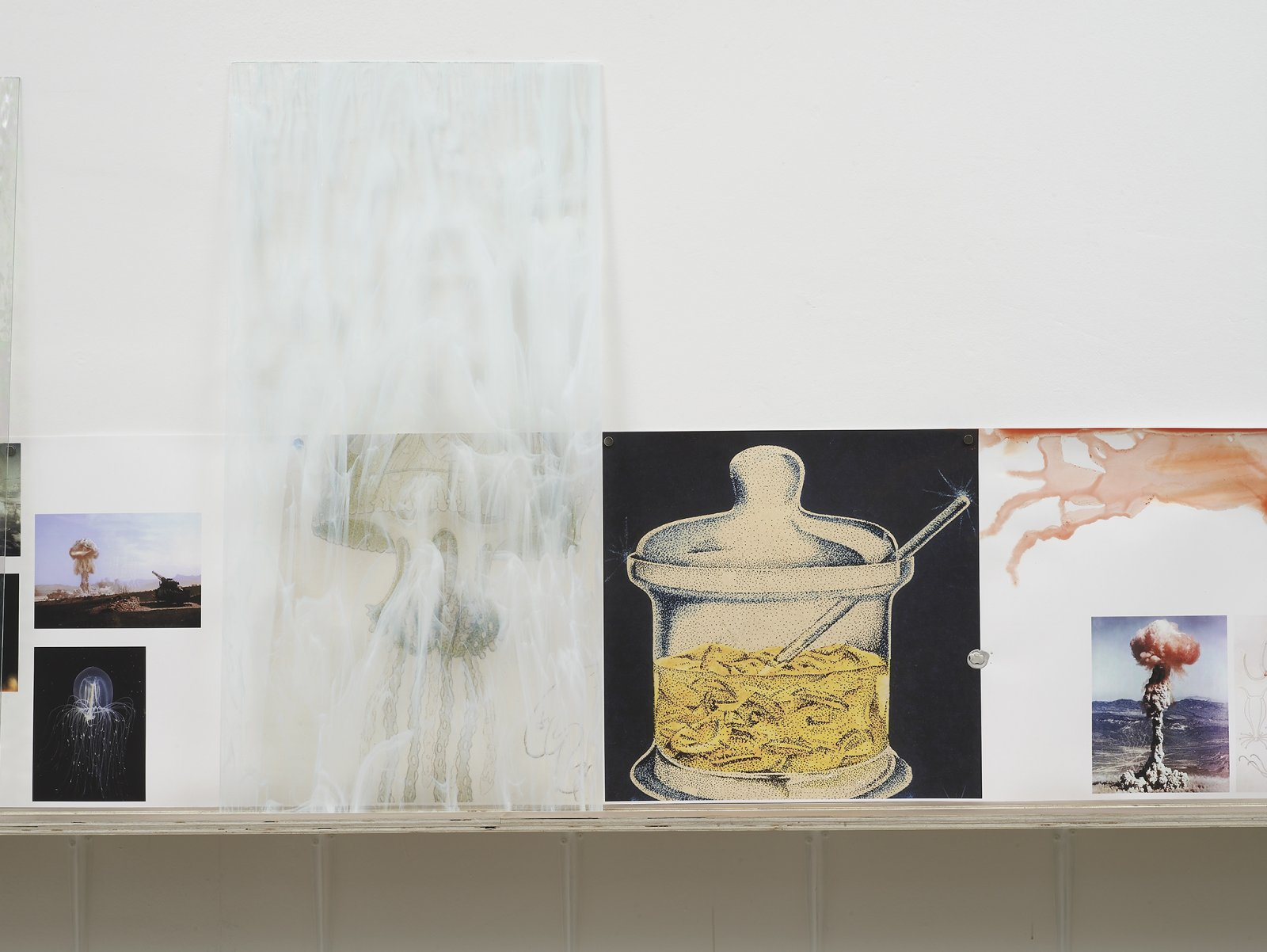 Christina Mackie, The Roiling (detail), 2012, mixed media, dimensions variable. Installation view, Painting the Weights, Chisehale Gallery, London, UK, 2012 by Christina Mackie