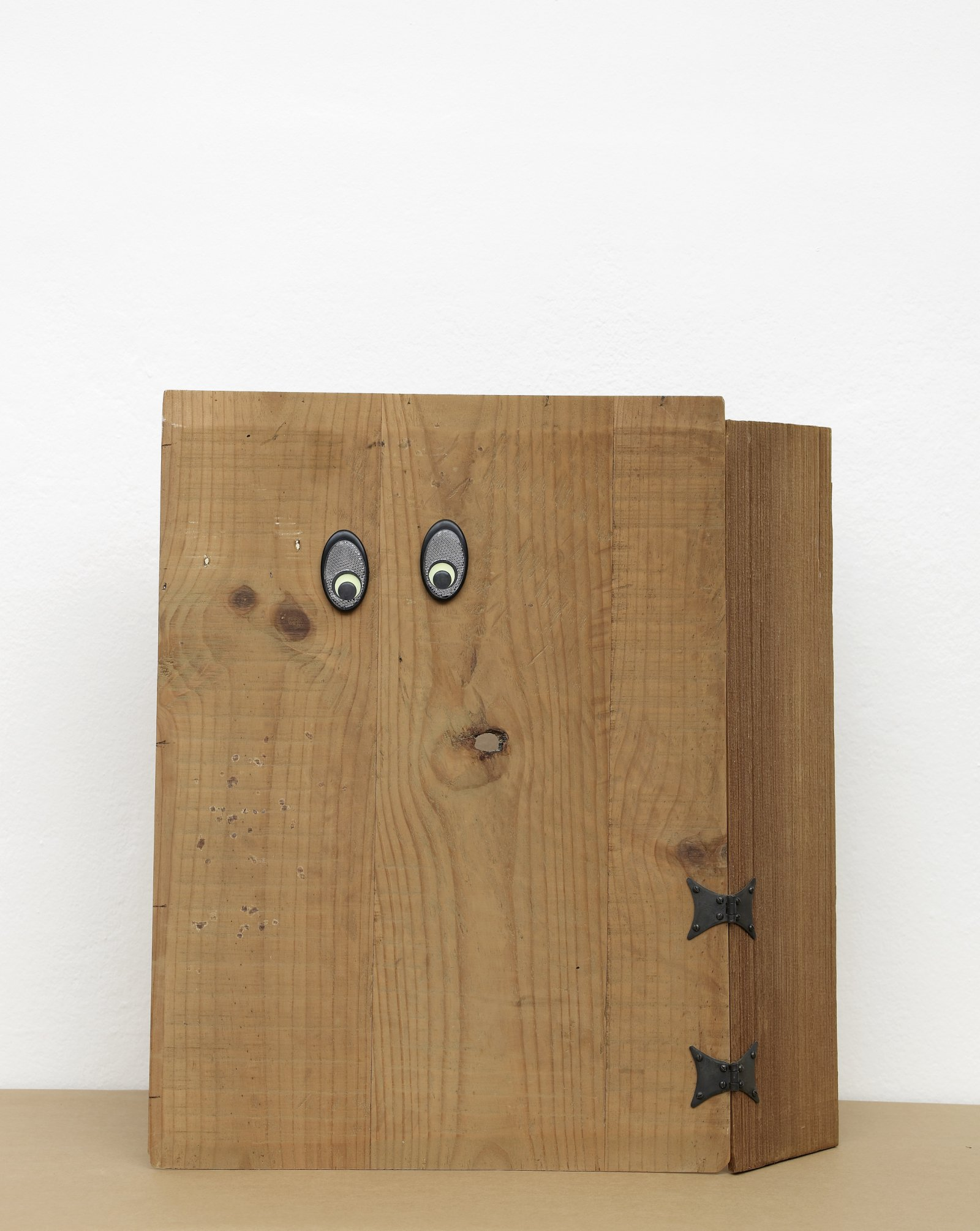 Christina Mackie, Trestle People, 2012, mixed media, dimensions variable. Installation view, Painting the Weights, Chisenhale Gallery, London, UK, 2012 by Christina Mackie