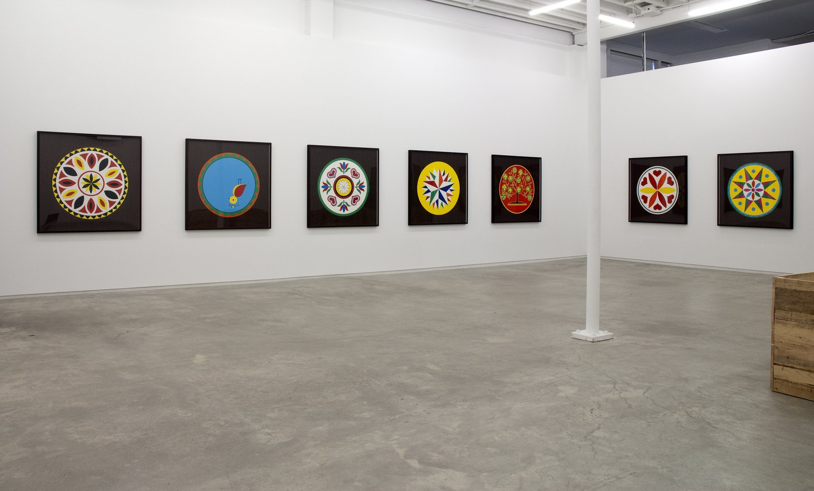 Myfanwy MacLeod, installation view, Gold, Catriona Jeffries, 2009 by Myfanwy MacLeod