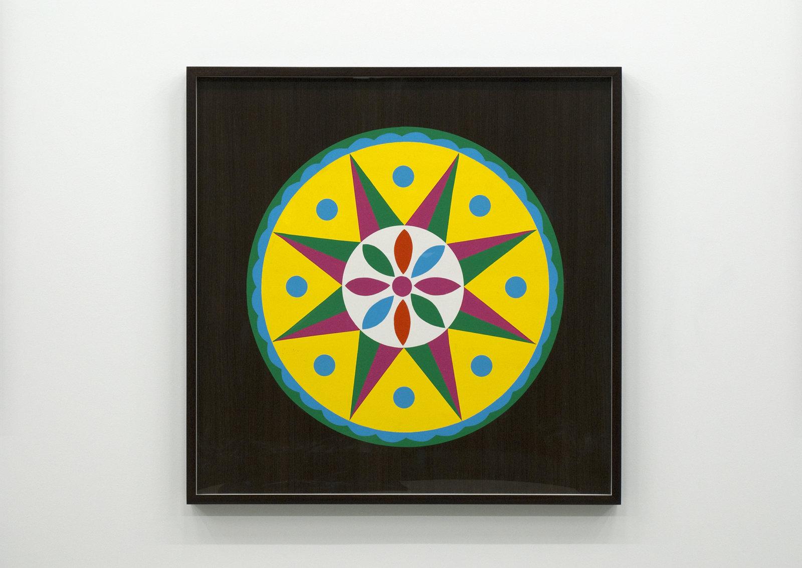 Myfanwy MacLeod, Hex III, 2009, enamel on wood, 48 x 48 in. (122 x 122 cm) by Myfanwy MacLeod