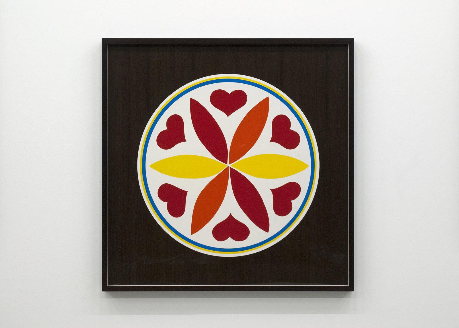 Myfanwy MacLeod, Hex IV, 2009, enamel on wood, 48 x 48 in. (122 x 122 cm) by Myfanwy MacLeod