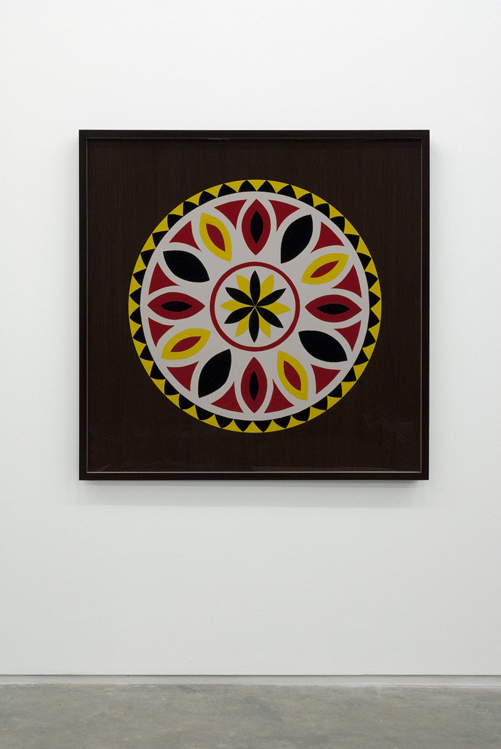 Myfanwy MacLeod, Hex VIII, 2009, enamel on wood, 48 x 48 in. (122 x 122 cm) by Myfanwy MacLeod