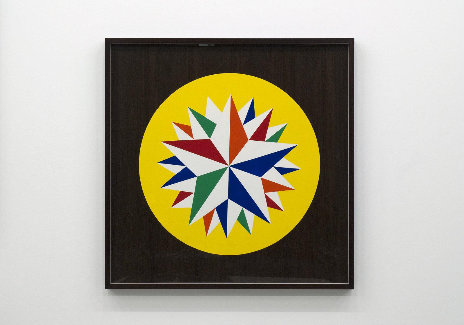 Myfanwy MacLeod, Hex VI, 2009, enamel on wood, 48 x 48 in. (122 x 122 cm) by Myfanwy MacLeod