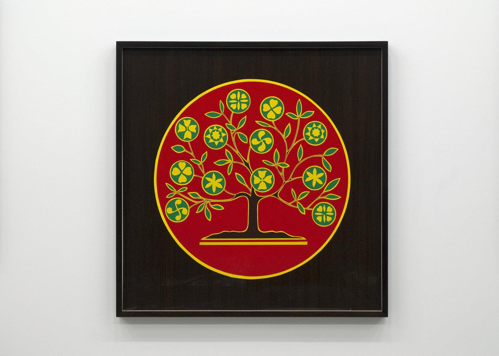 Myfanwy MacLeod, Hex V, 2009, enamel on wood, 48 x 48 in. (122 x 122 cm) by Myfanwy MacLeod