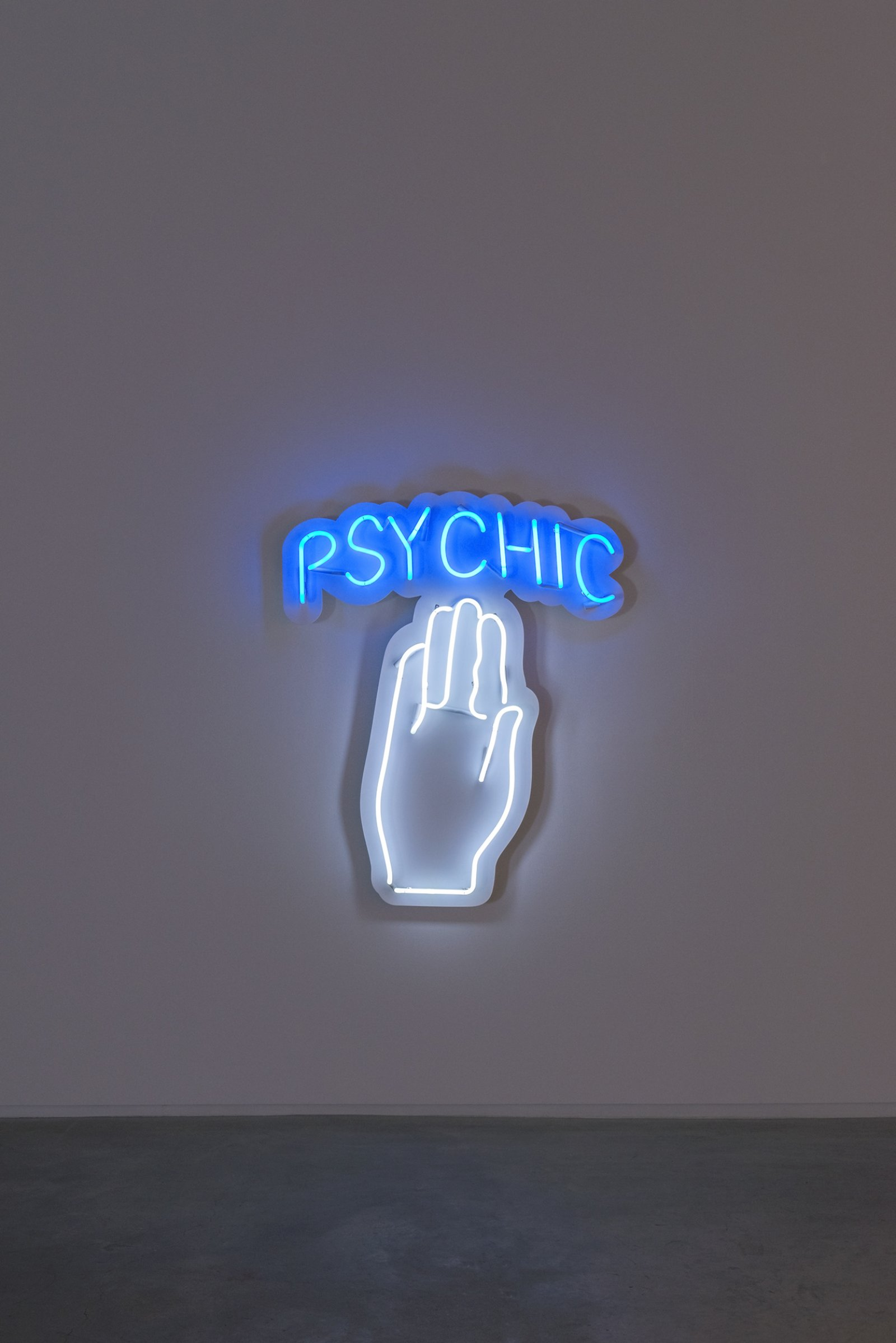 Myfanwy MacLeod, Oracle, 2014, neon, 53 x 43 x 5 in. (135 x 109 x 13 cm) by Myfanwy MacLeod