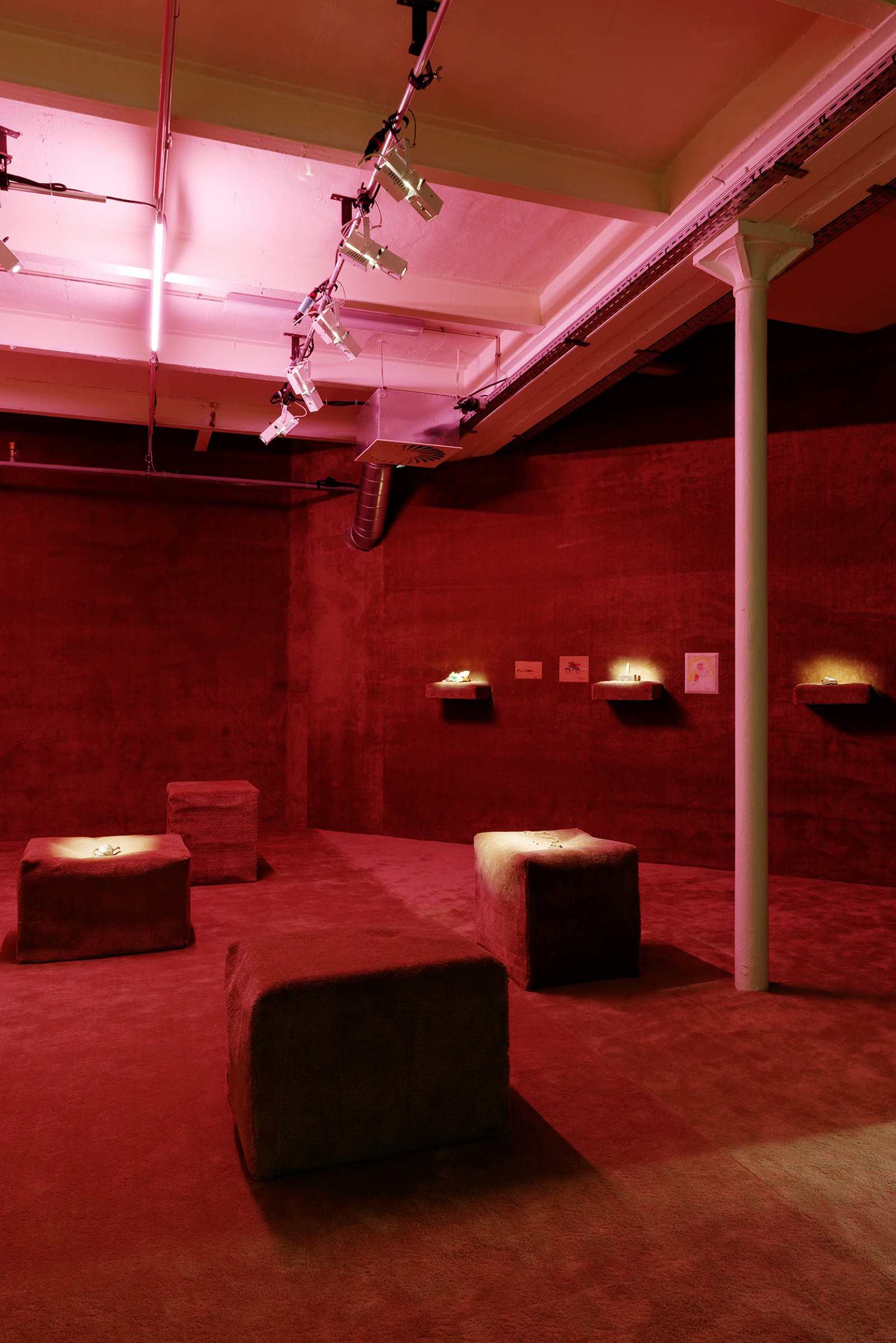 Laure Prouvost, installation view, No Fear, No Shame, No Confusion, Triangle France, Marseilles, 2013 by Liz Magor